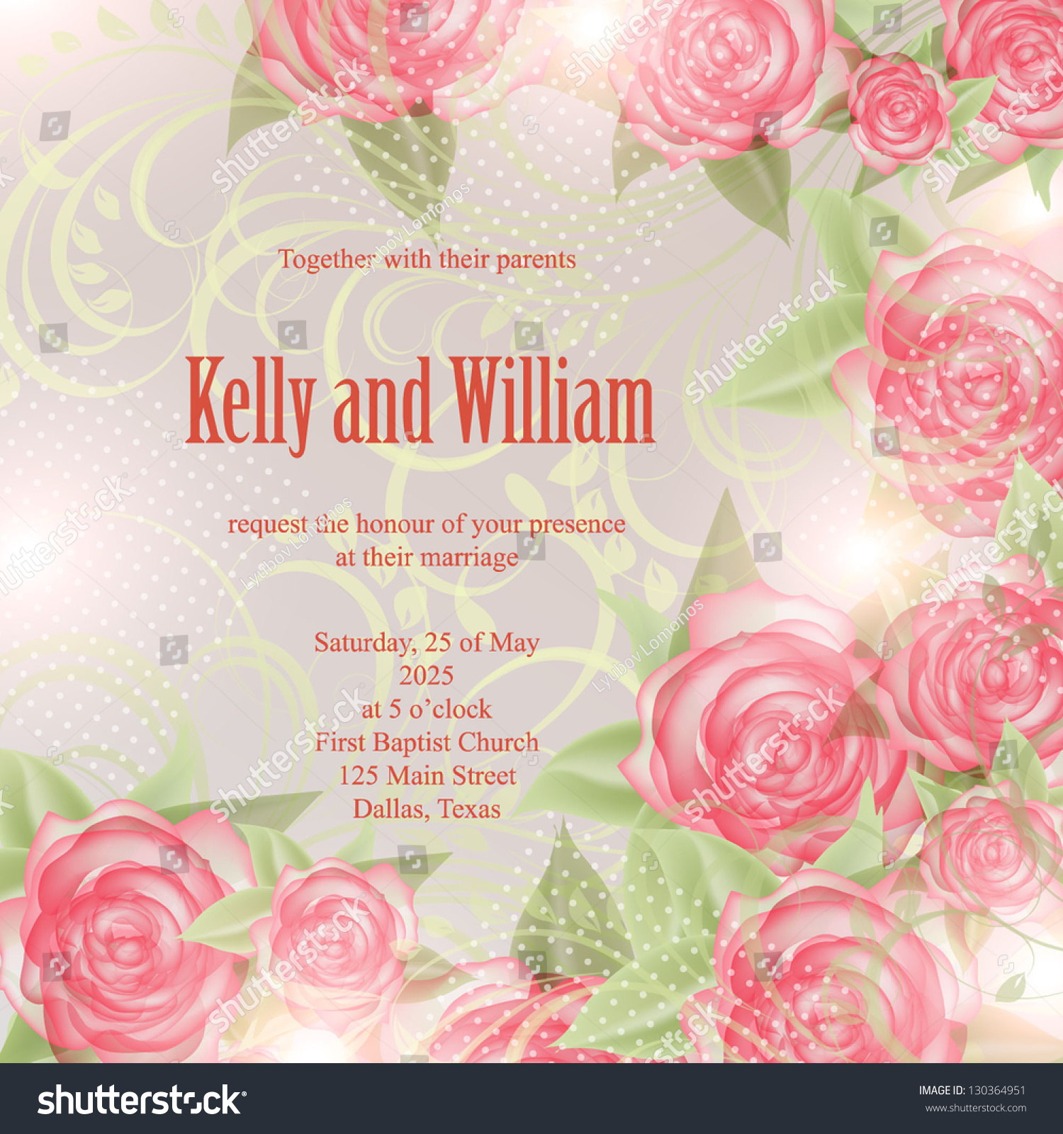 Invitation wedding card abstract floral background em vetor stock invitation or wedding card with abstract floral background stopboris Gallery