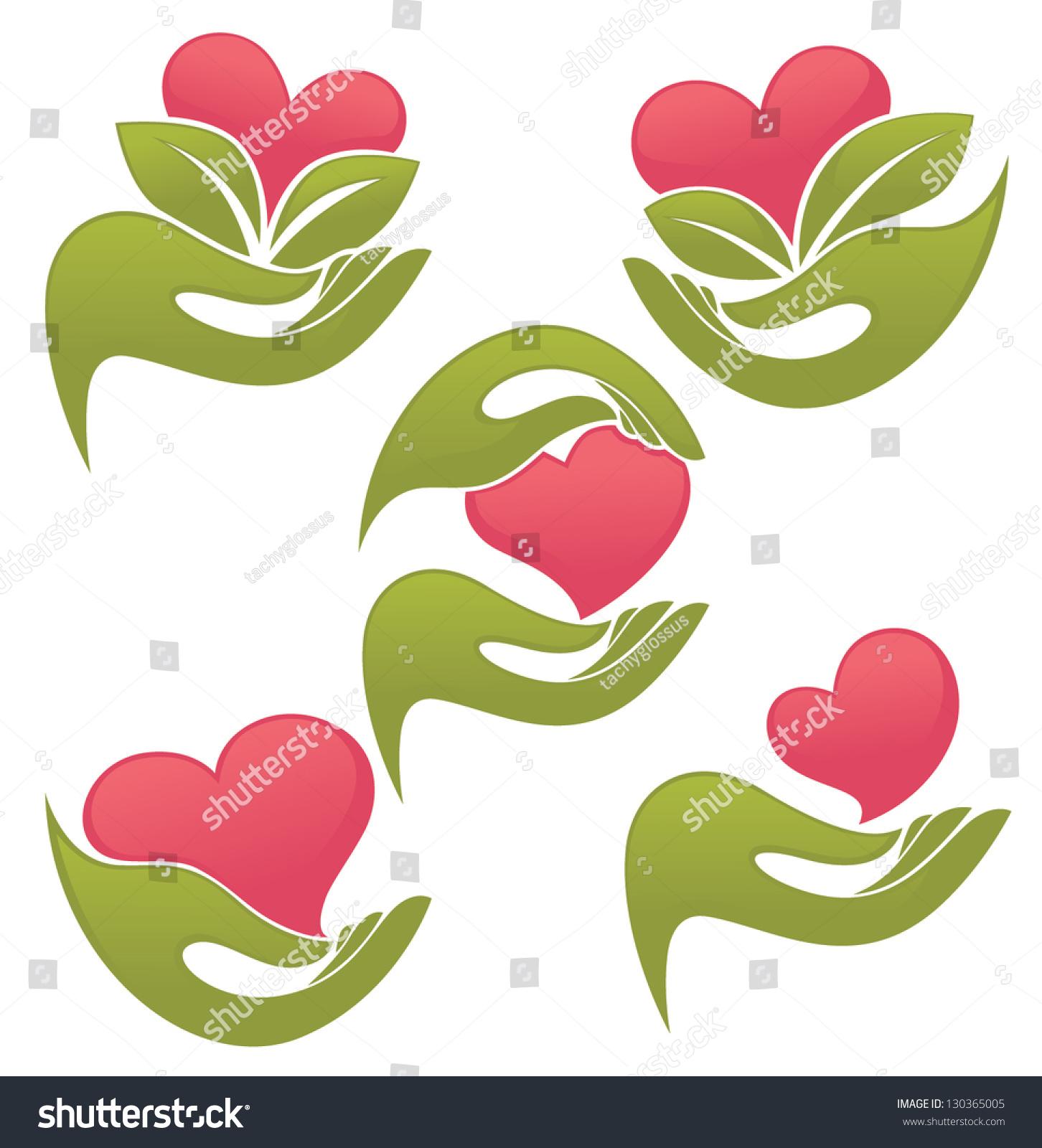 Love My Heart Symbols Humans Hands Stock Vector Royalty Free