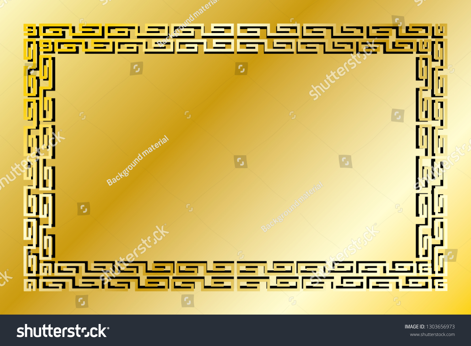 Ancient Patterned Wind Frame Hieroglyphs Traditional Stock Vector Royalty Free 1303656973