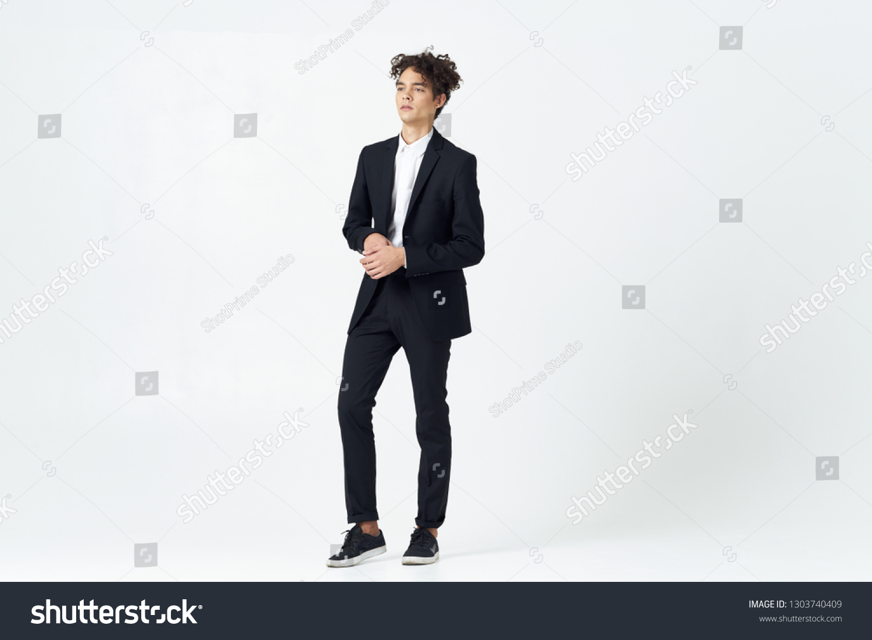 patent leather suit