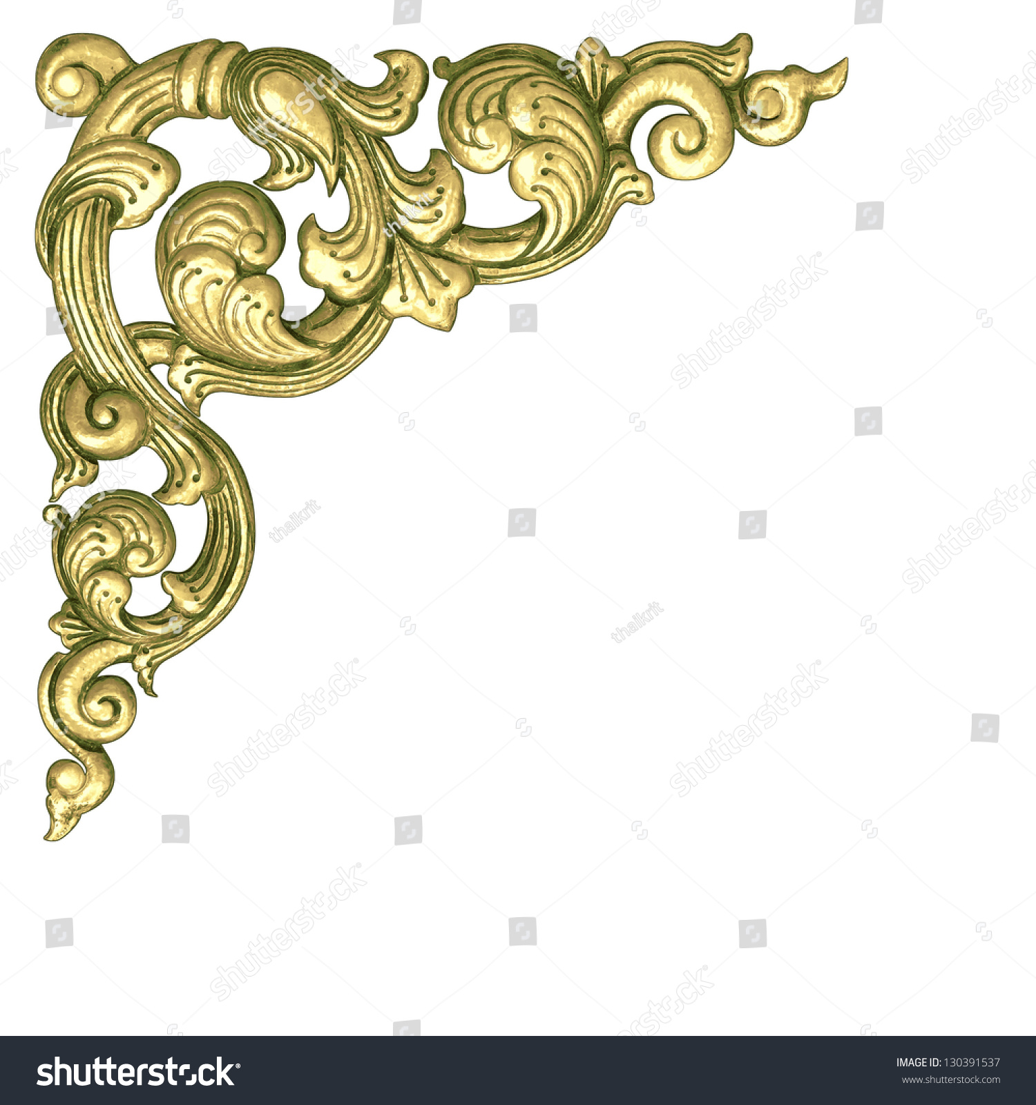 gold flower frame border stock photo 130391537 shutterstock