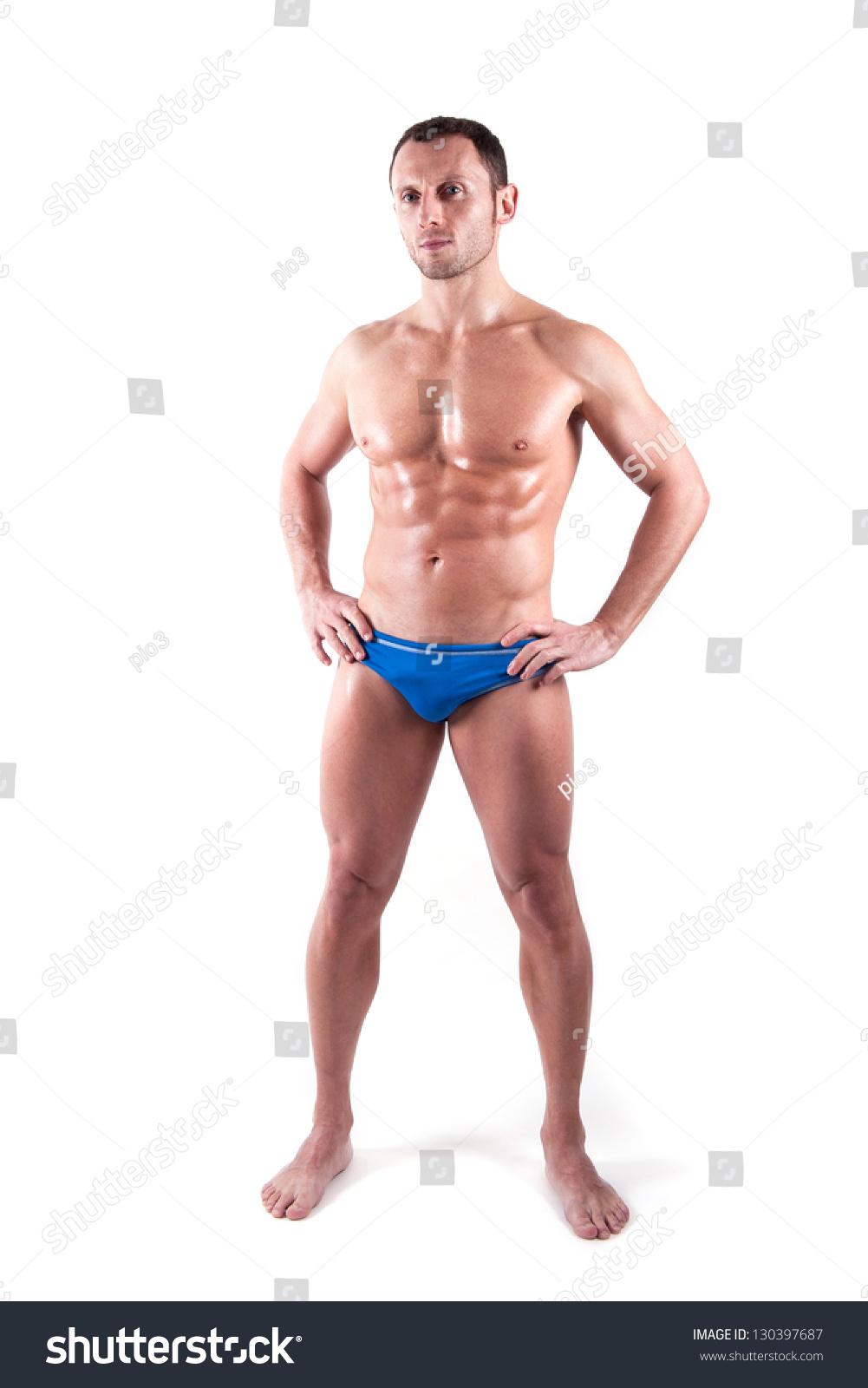 men wearing women's bikini