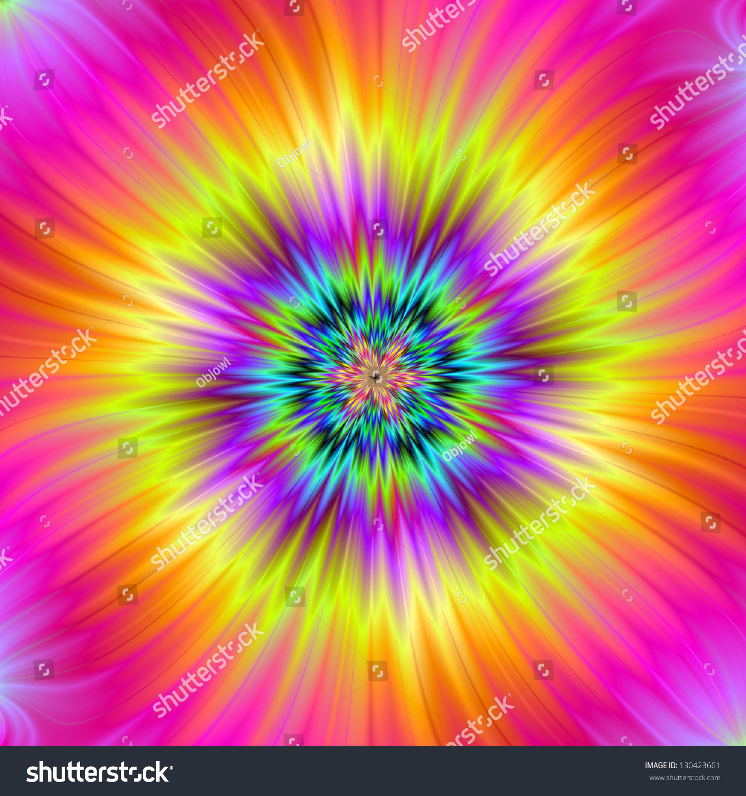 Fractal Black Flower Free Stock Photo: Sun Flower / Digital Fractal Abstract Image With A
