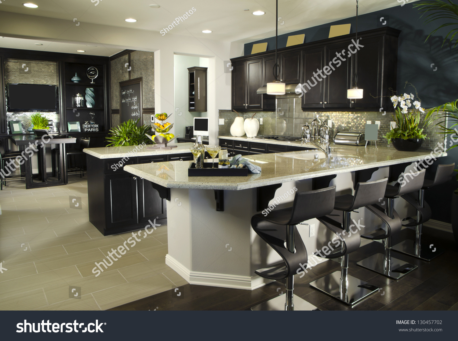 Kitchen interior home architecture stock images stock for Kitchen room model