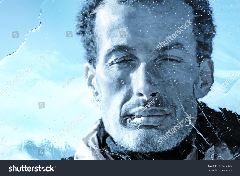 Frozen Ice M... Man Frozen In Ice Alive