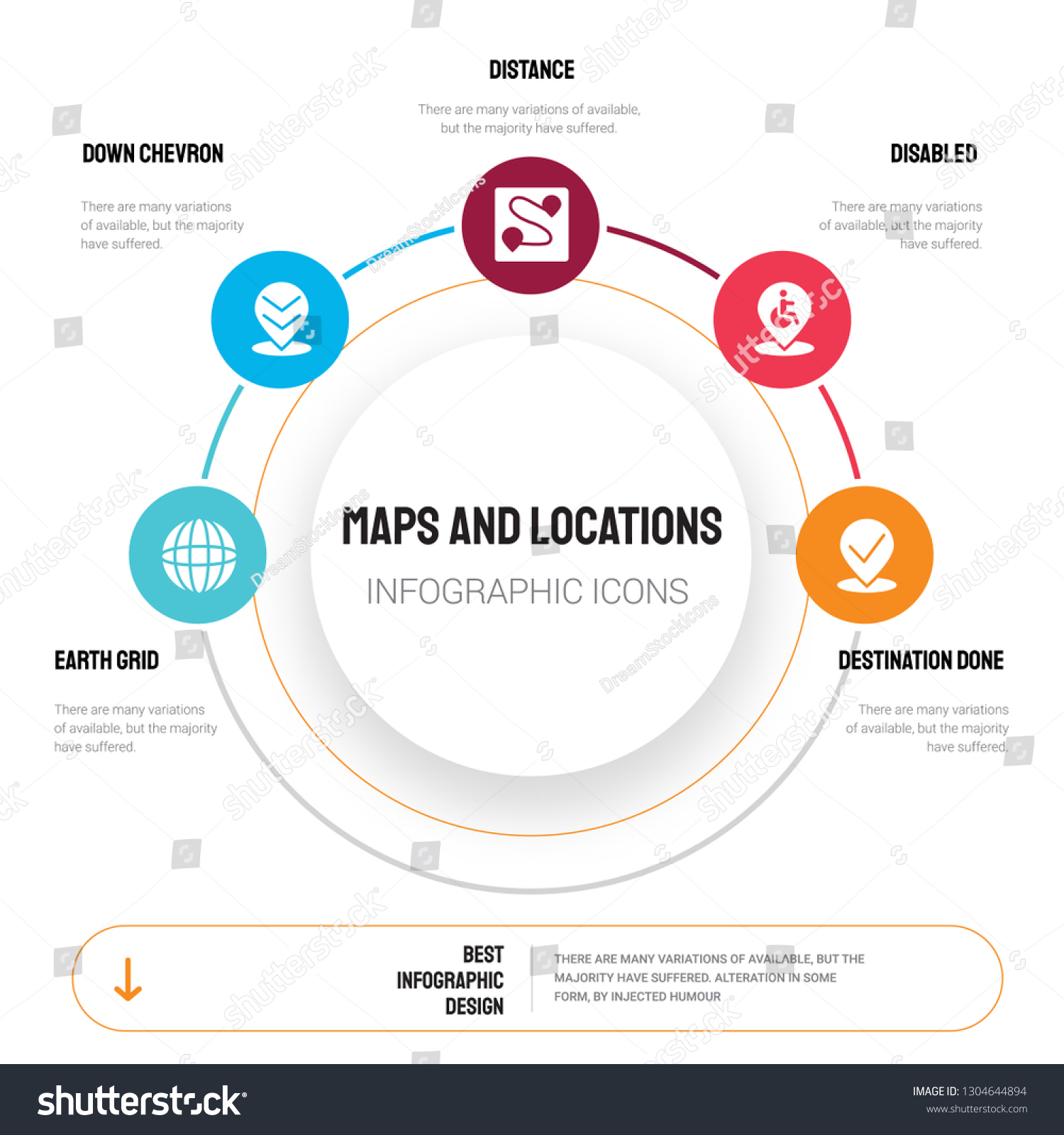 Abstract Infographics Maps Locations Template Earth Stock