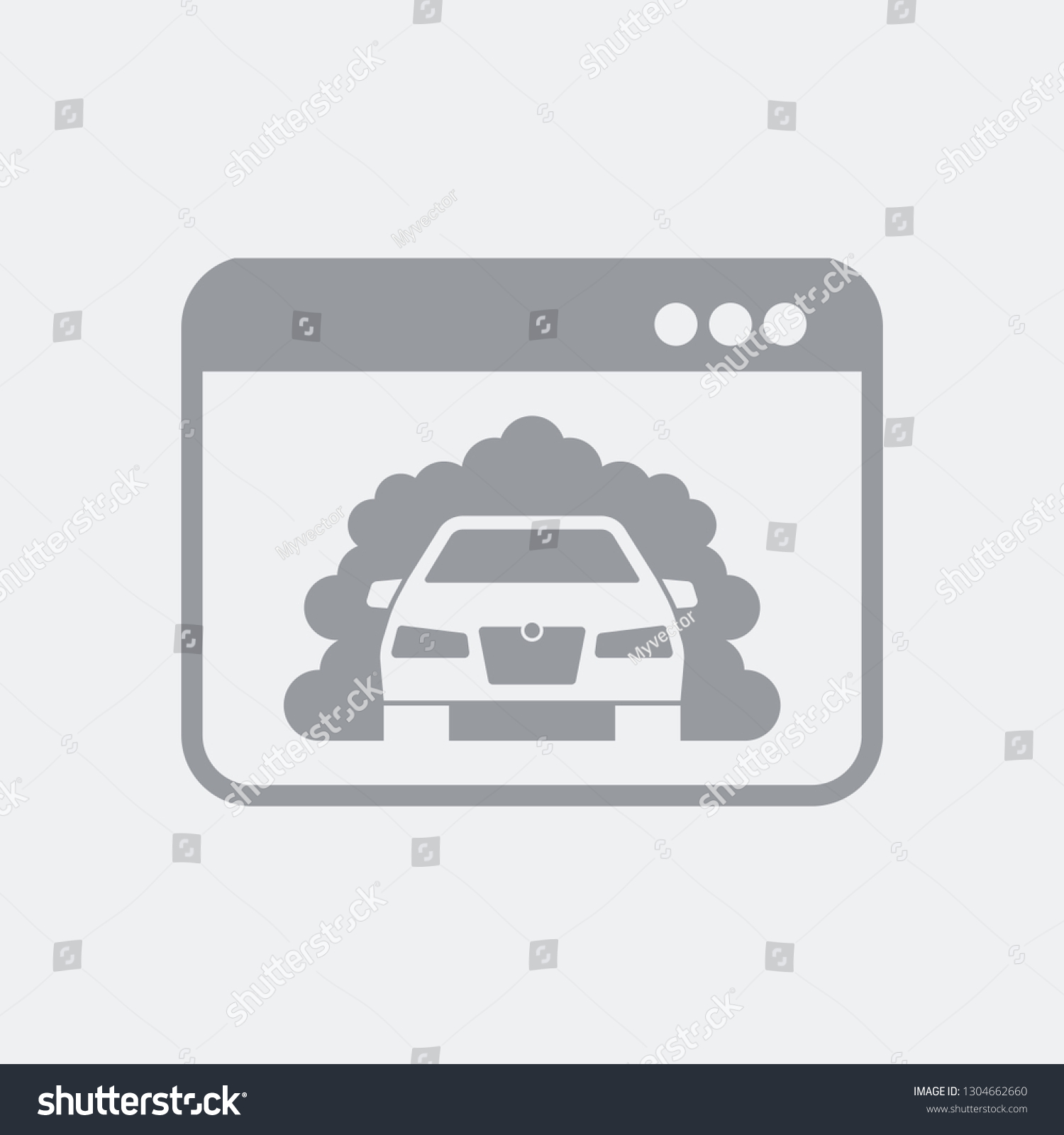 Software Car Emissions Test Flat Isolated Stock Vector (Royalty Free