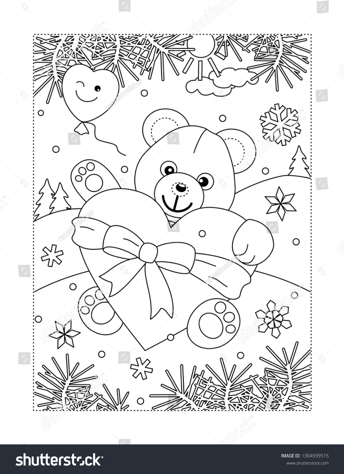 Valentine's Day Coloring Page For Children Or Adults Royalty Free ...   1600x1160