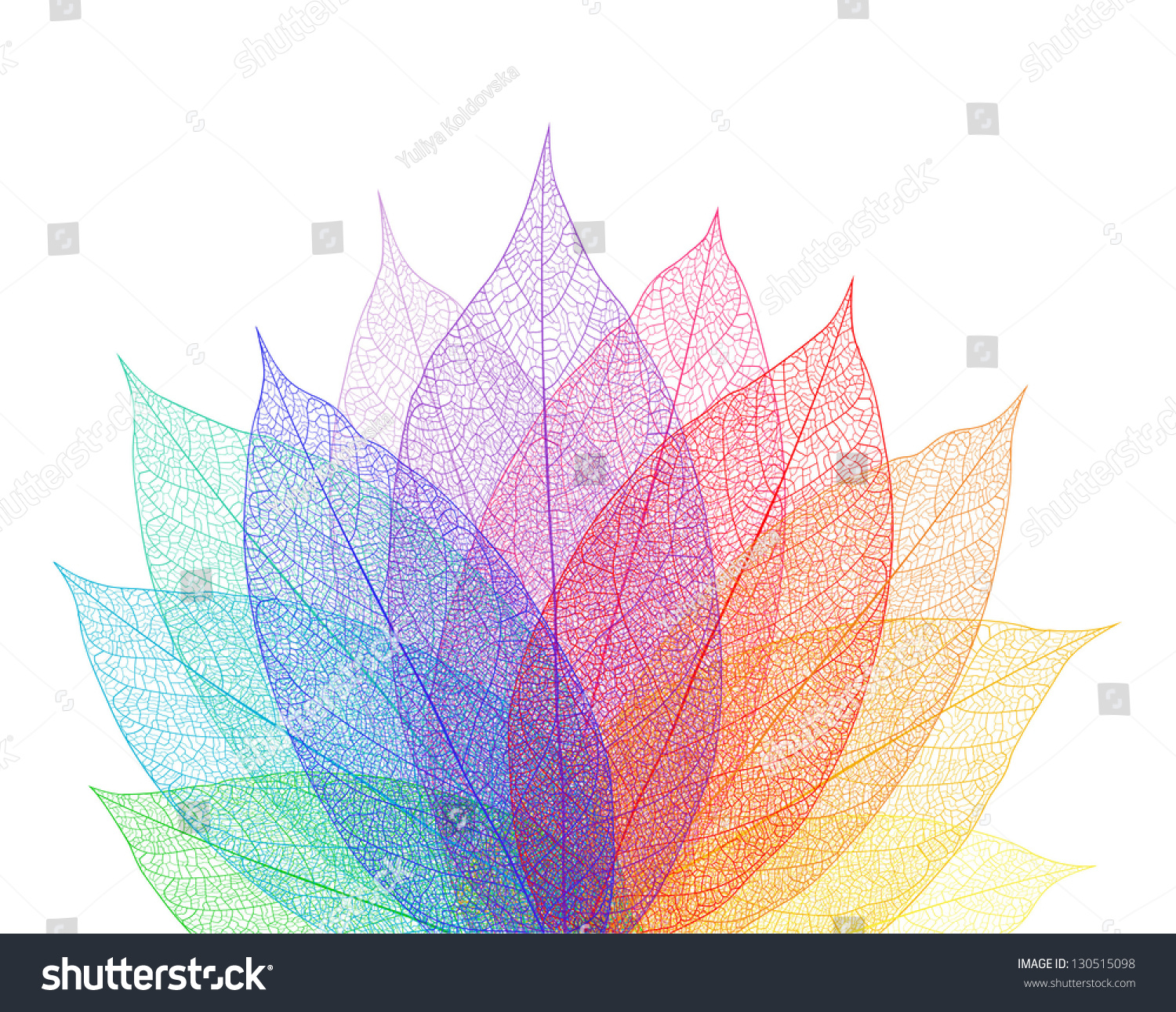Leaf Abstract Background Stock Vector 130515098