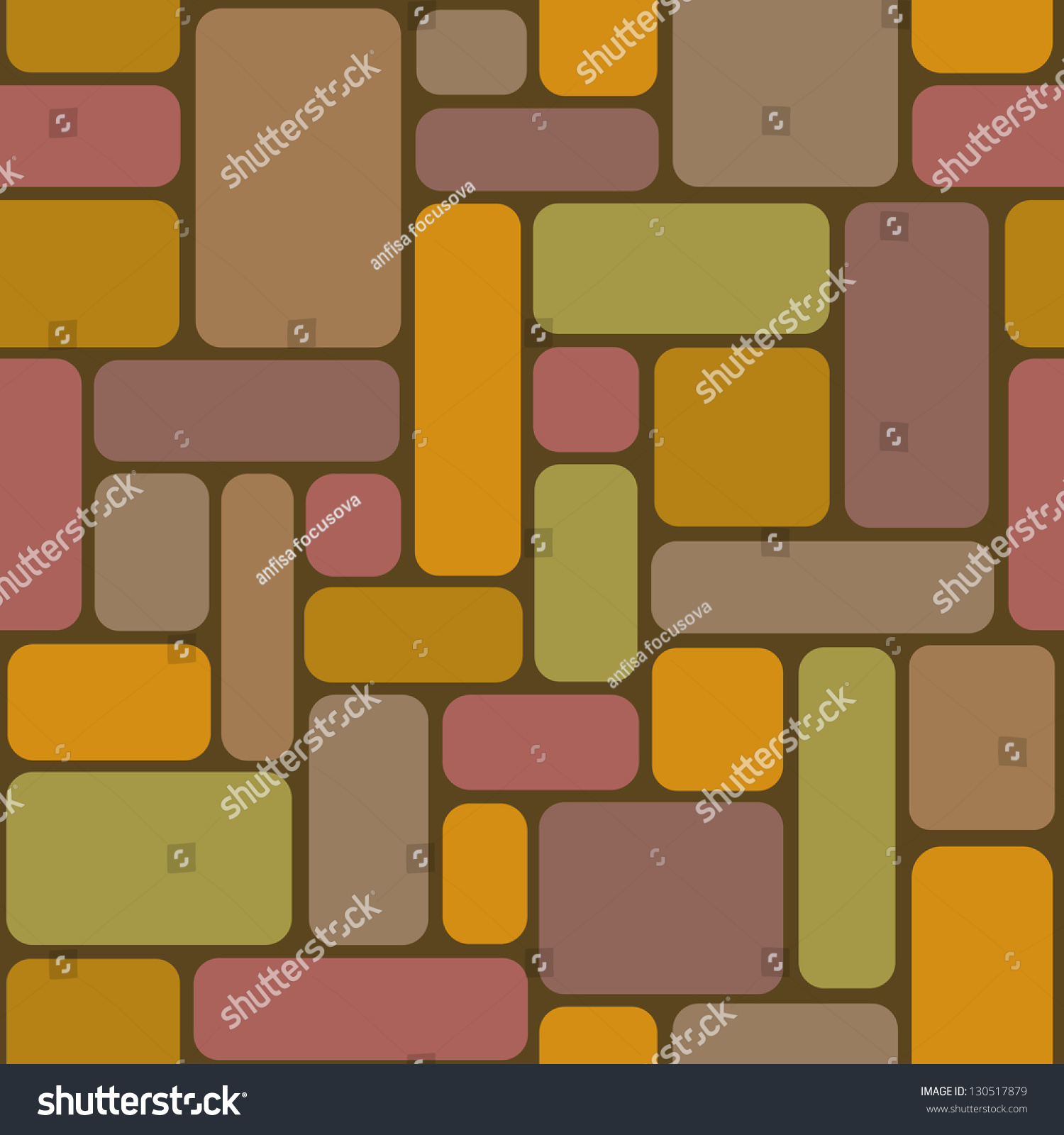 Seamless Pattern Color Rectangular Tiles Simple Stock Illustration ...