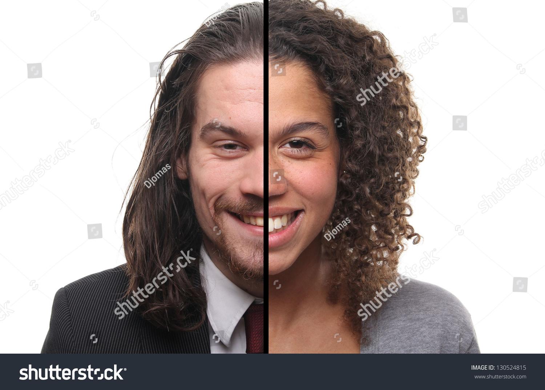 Half Man Half Woman Stock Photo 130524815 Shutterstock