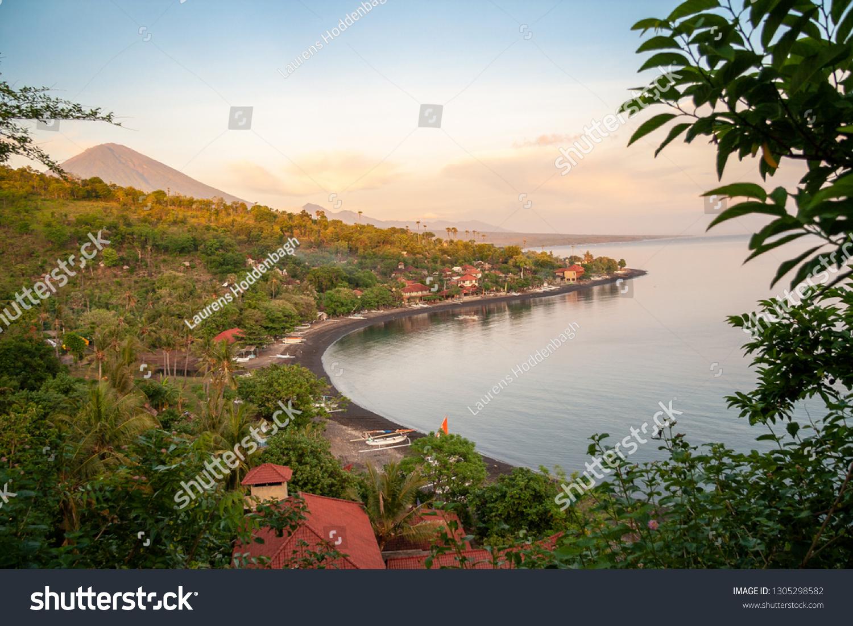 Sunset Bay Jemeluk Bali Kabupaten Karangasem Stock Photo Edit Now 1305298582