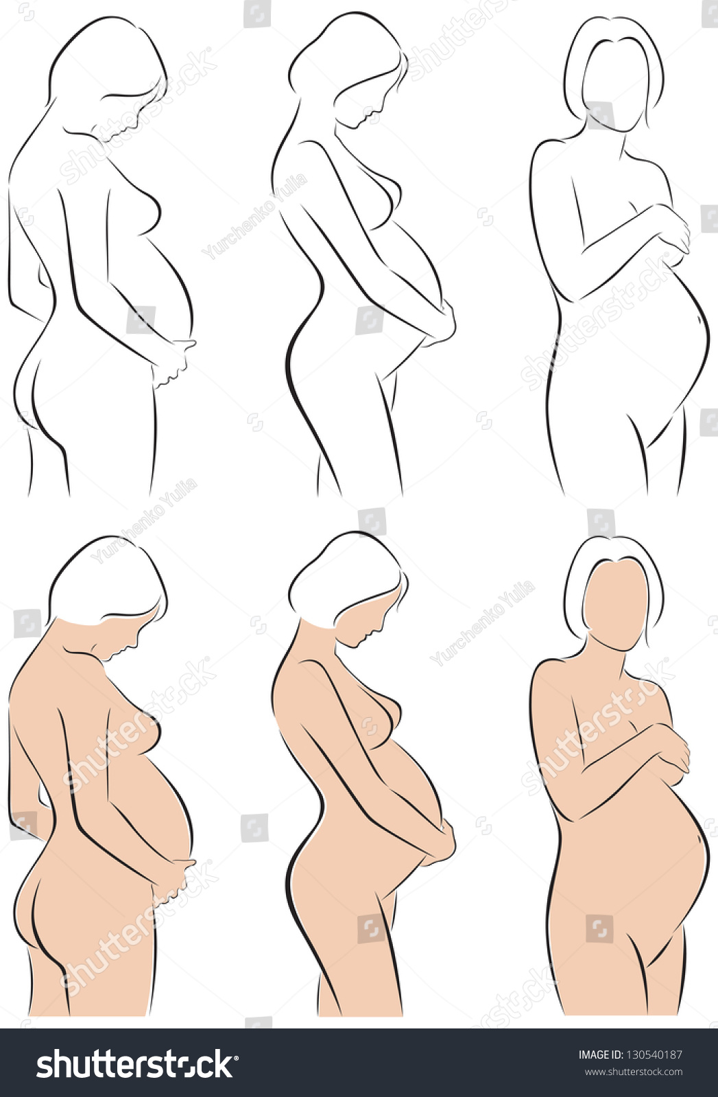woman Beautiful body pregnant