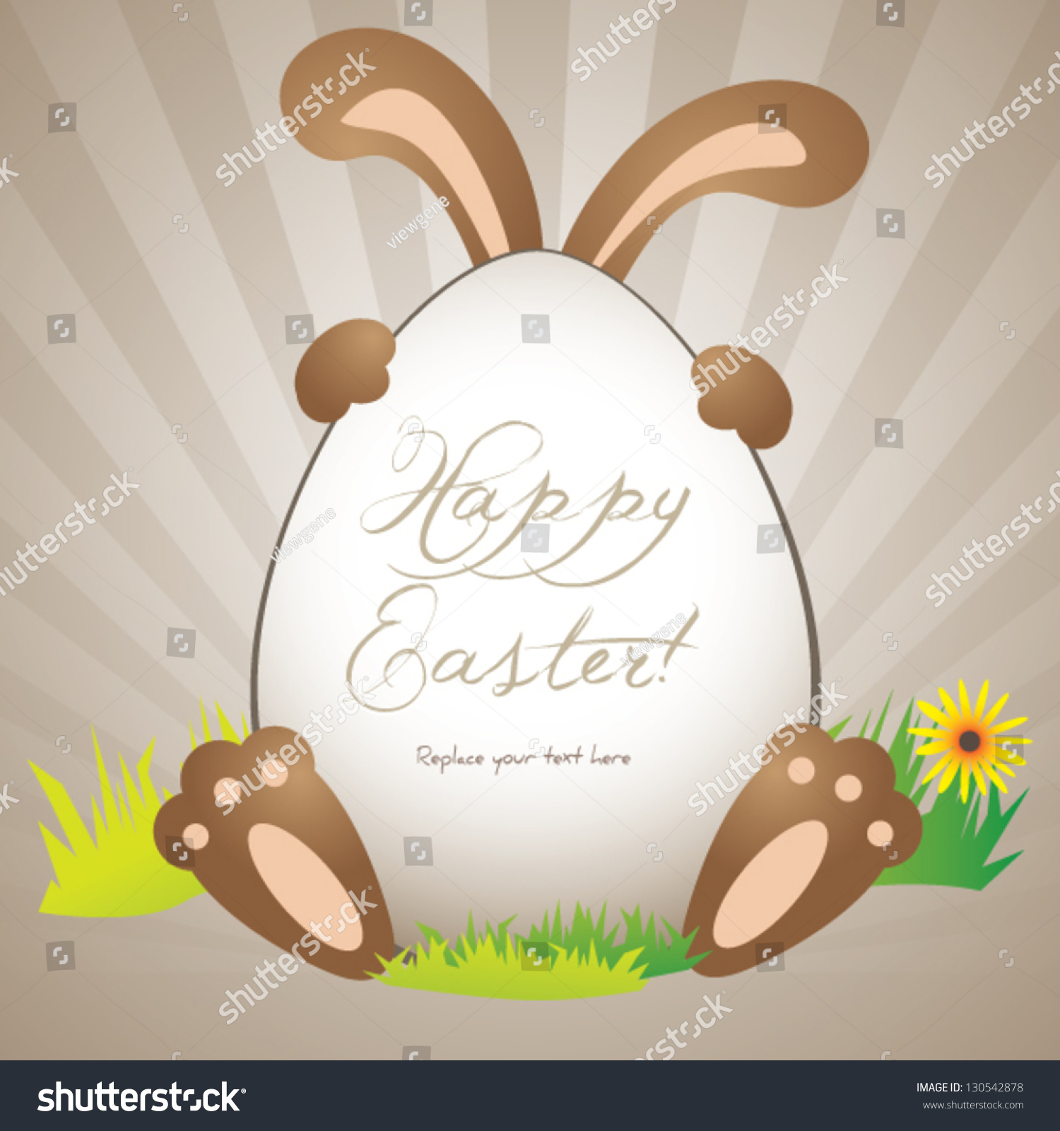 Funny easter greeting card poster background stock vector 130542878 funny easter greeting card or poster background template with copy space kristyandbryce Choice Image