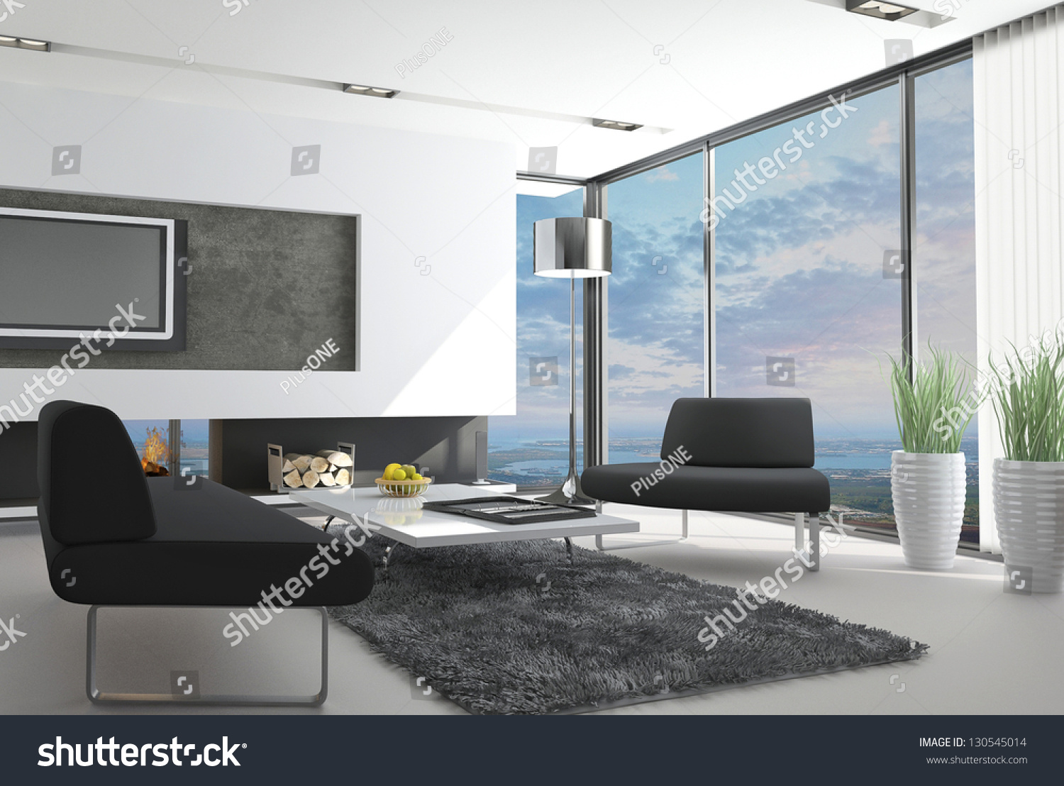 Living Room With Landscape View | 3D Interior Architecture Part 68
