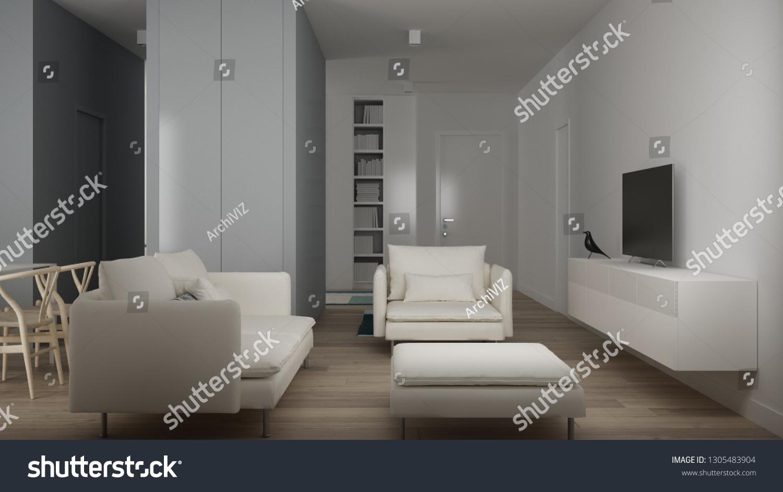 Small Apartment Parquet Floor Modern Carpet Stock