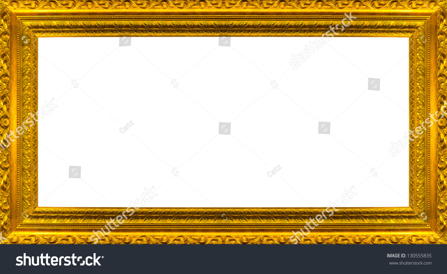 Very Big Size Large Golden Picture Stock Photo 130555835