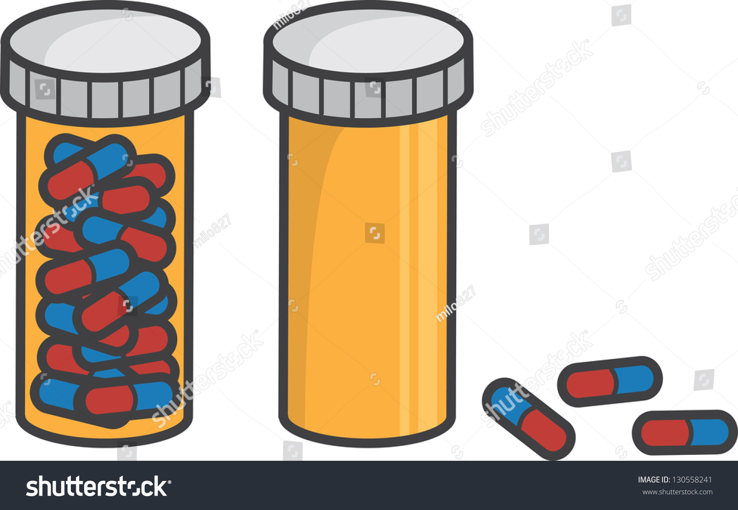 Worksheet Full And Empty isolated pill bottle full empty stock vector 130558241 shutterstock and empty