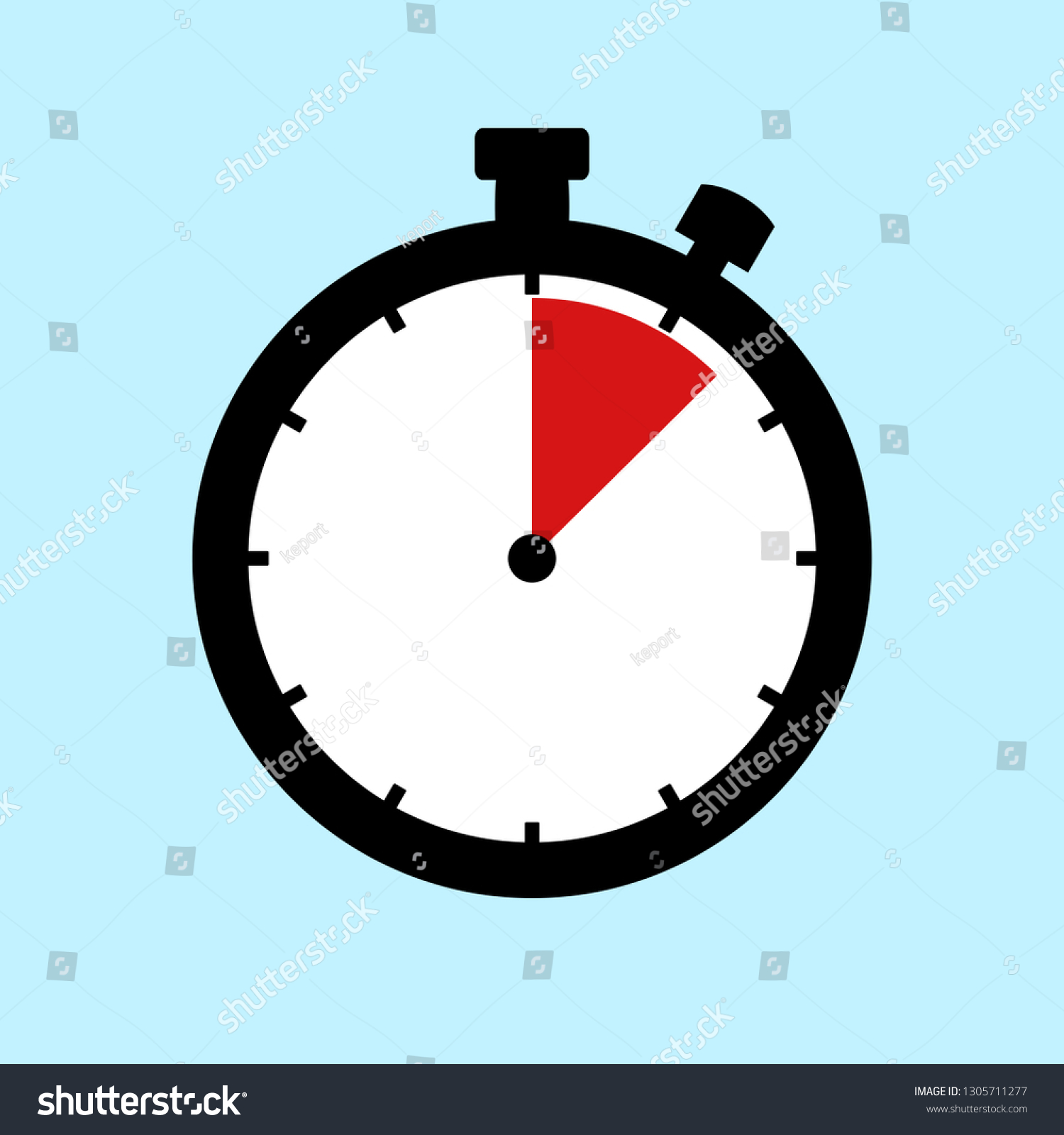 90 Minutes 15 Hours Flat Design Stock Illustration 1305711277