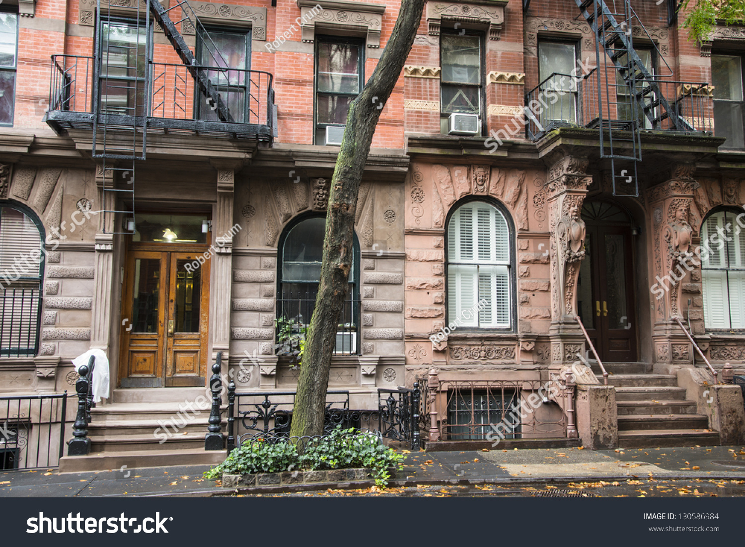 Old greenwich village apartment buildings new stock photo 130586984 shutterstock - The modern apartment in the old school ...