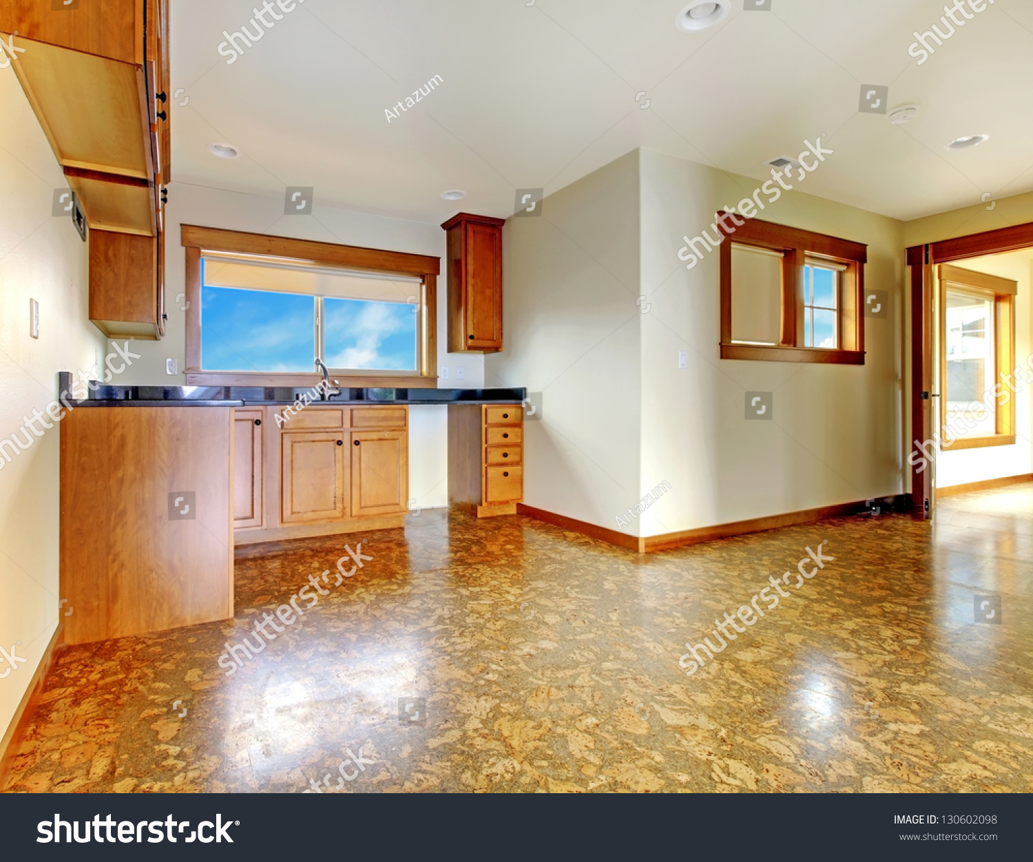 Luxury Kitchen Room Interior Bright Wooden Stock Vector: Small Kitchen Apartment Above Garage New Stock Photo