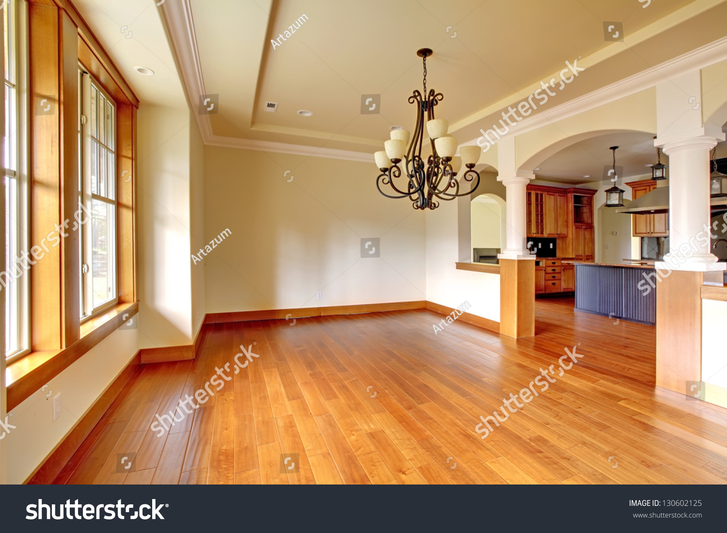 Large Kitchen Dining Room Large Luxury Dining Room Interior Kitchen Stock Photo 130602125