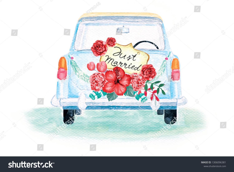 just married auto vorlage zum ausdrucken