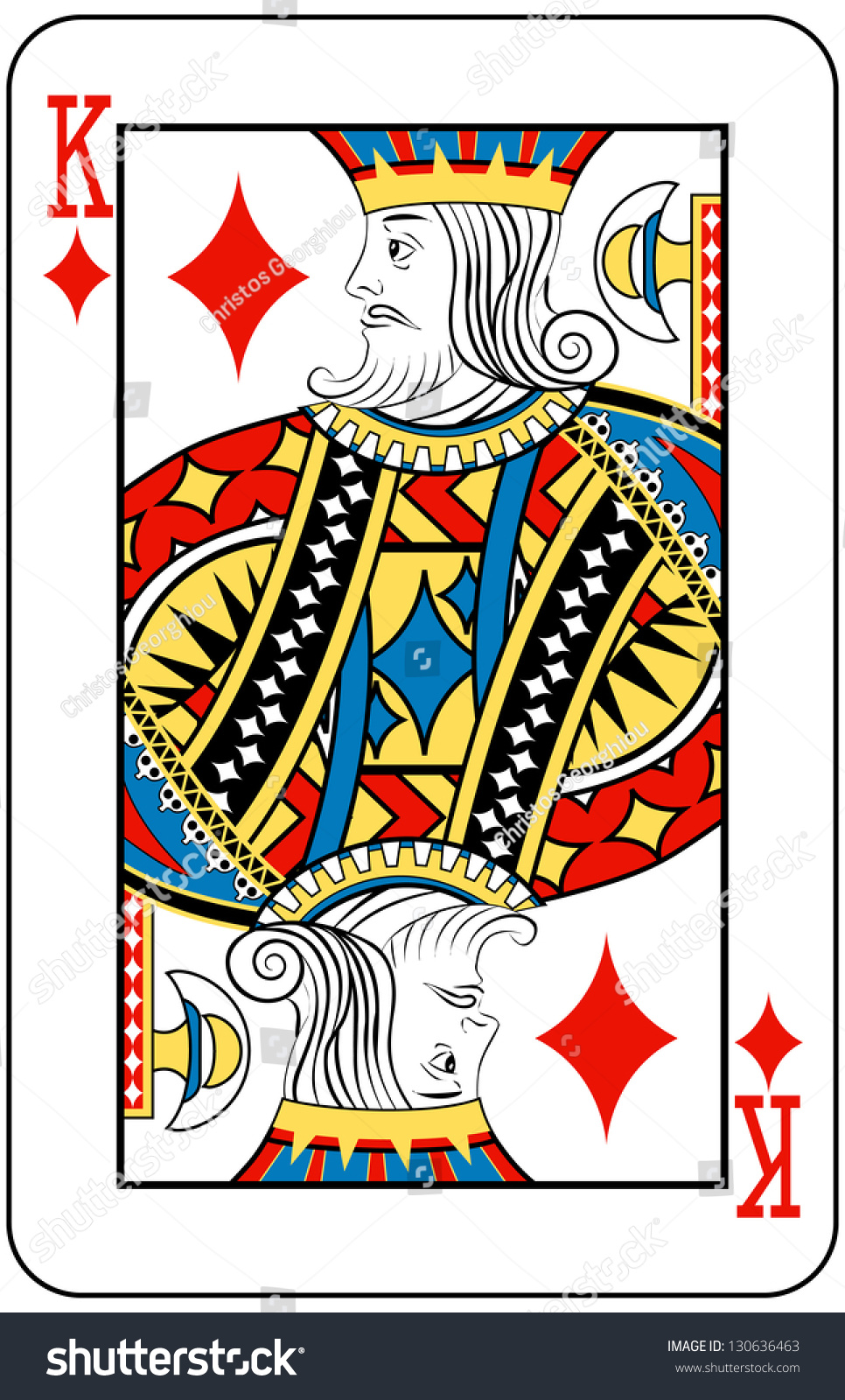 King Diamonds Playing Card Stock Illustration 130636463 ...