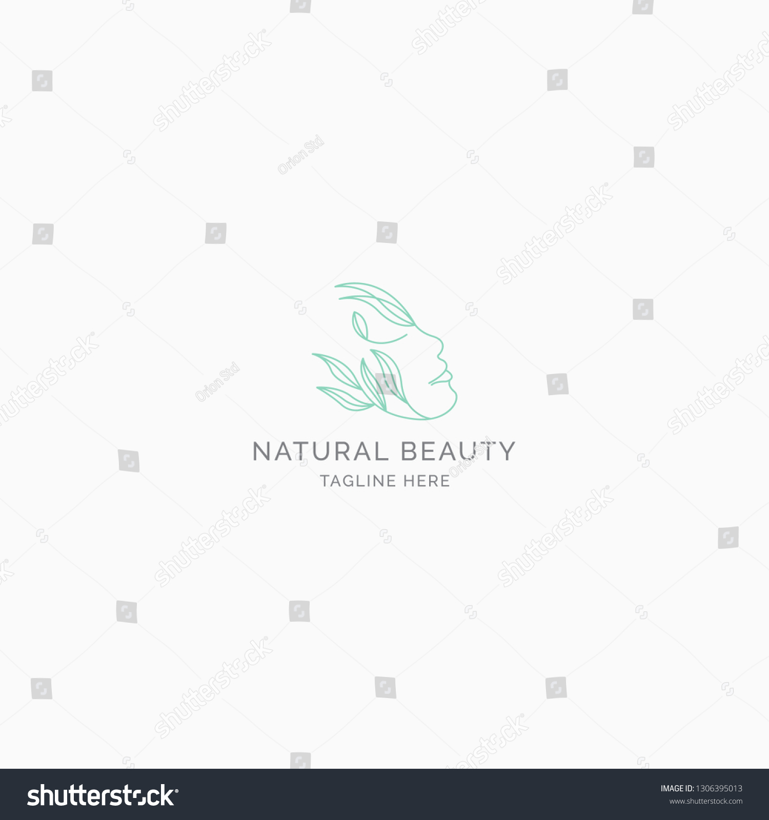 Natural Beauty Logo Concept Modern Minimalist Stock Vector