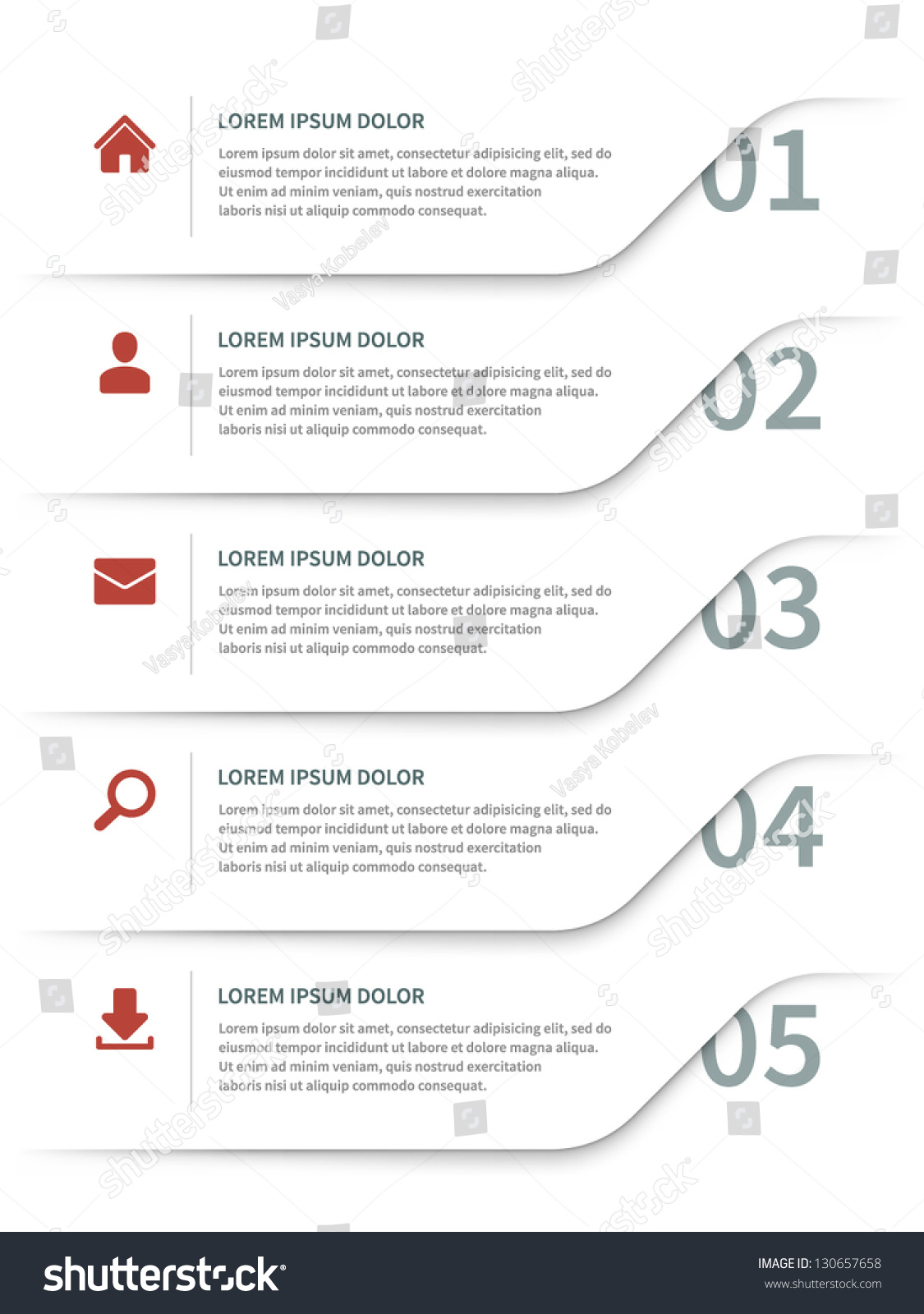 Vector Paper Lines And Numbers Design Template For Web Site – Paper Design Template