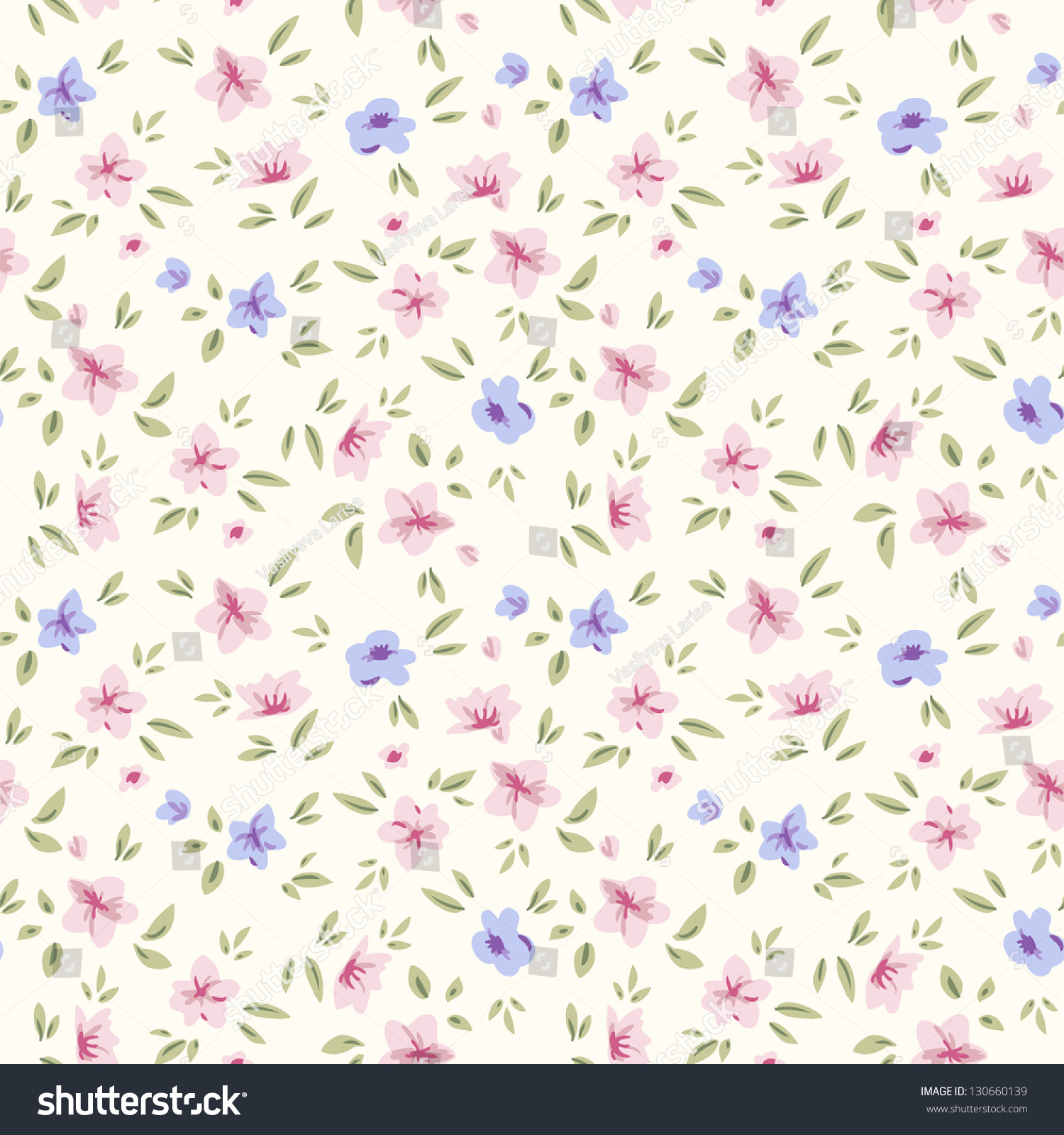 Simple Pattern Design Ideas: Simple Flower Pattern Floral Seamless Background Stock