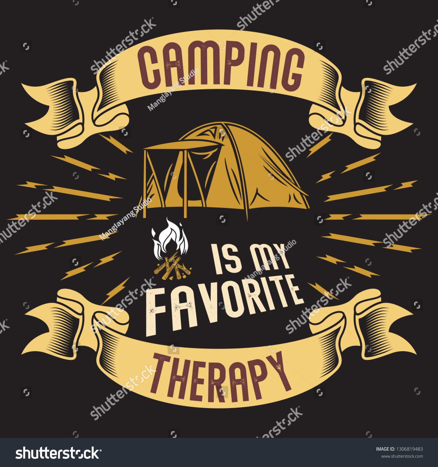 Camping is my favorite therapy camping sayings quotes vector best for t shirt