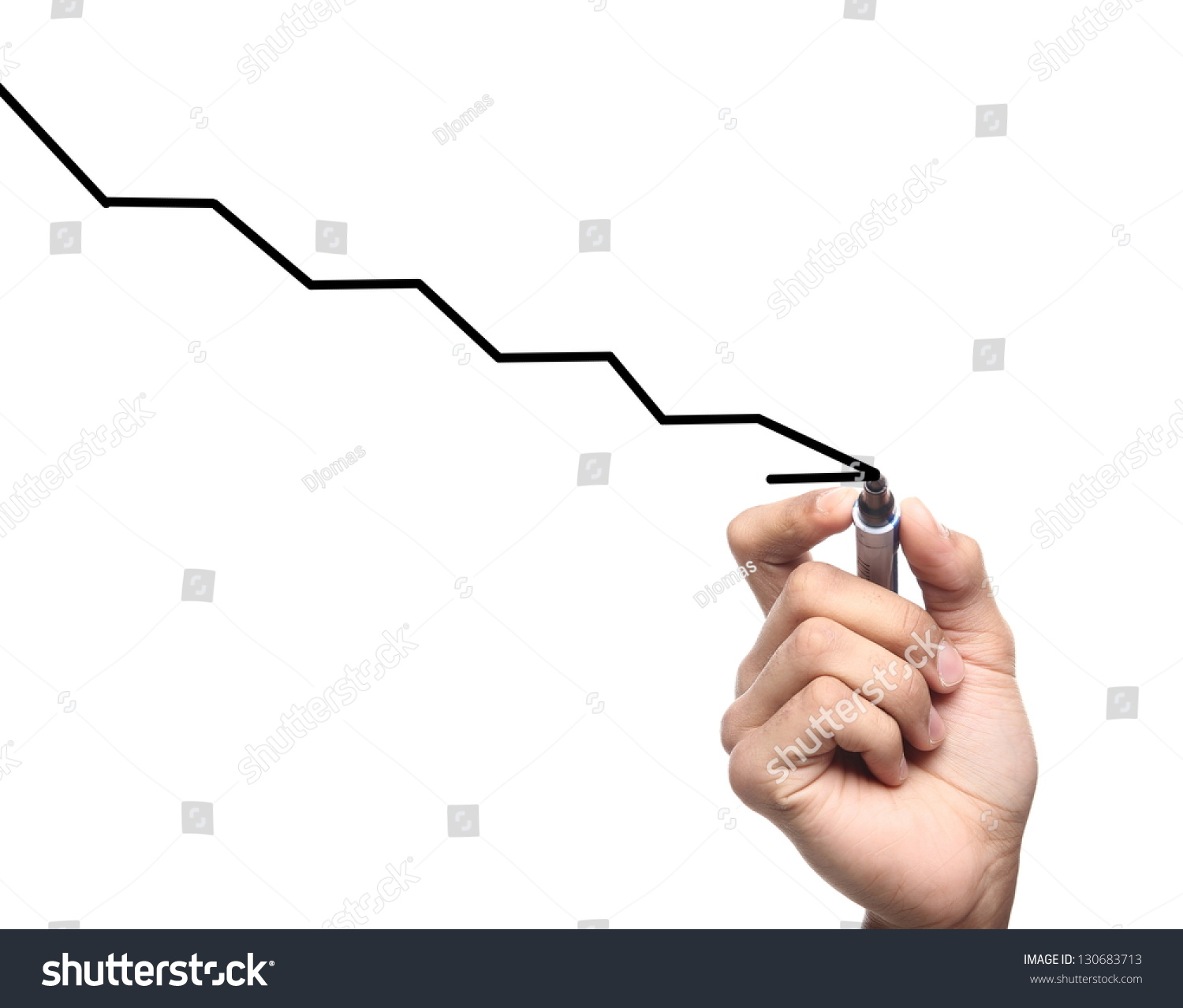 Drawing Line Graphs By Hand : Hand drawing graph stock photo shutterstock
