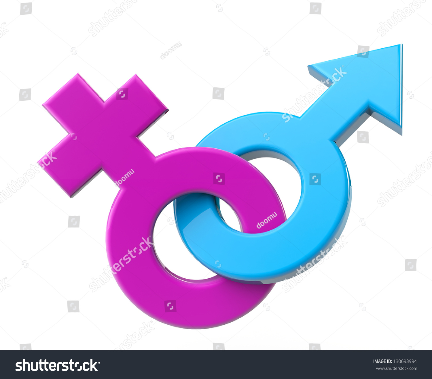 Male Female Sex Symbol On White Stock Illustration 130693994 - Shutterstock-7538