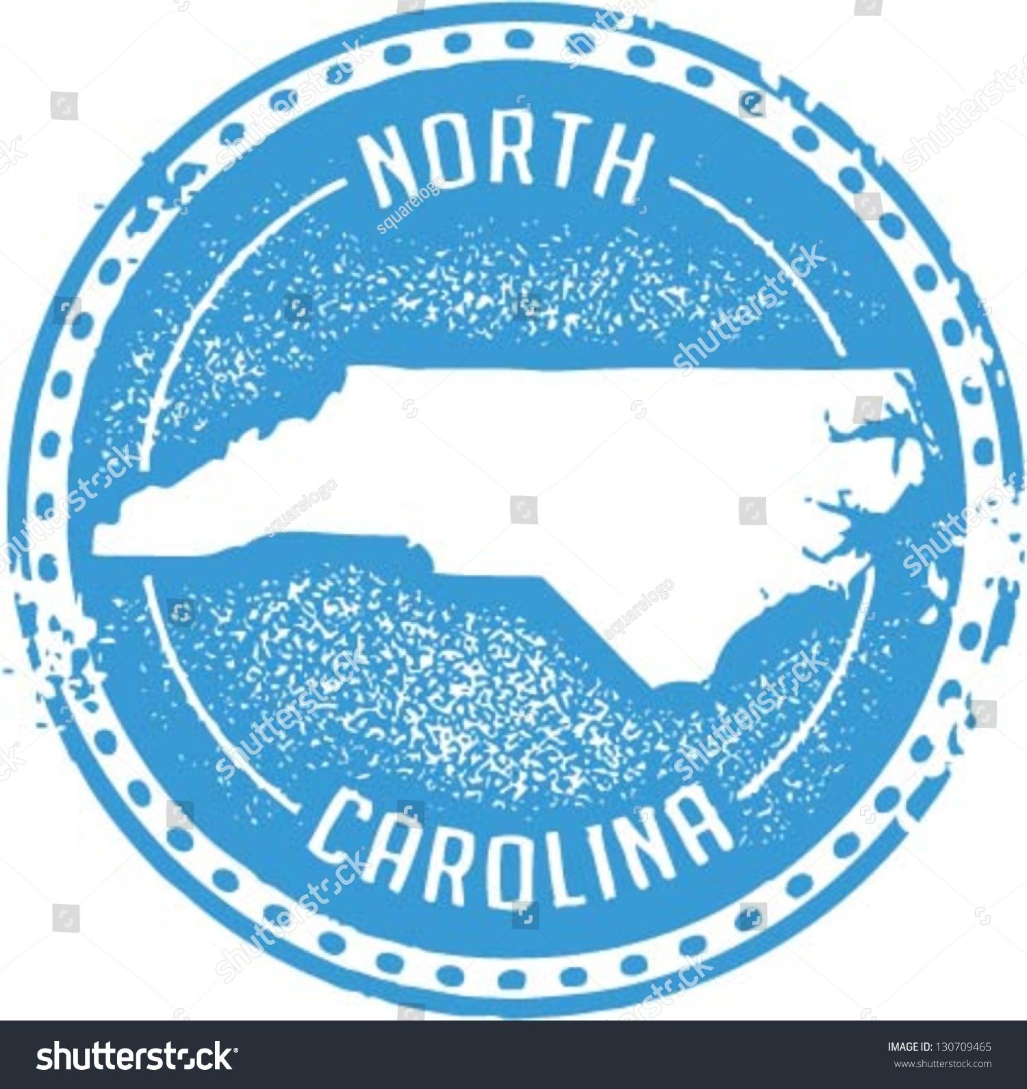 Vintage Style North Carolina Usa State Stock Vector