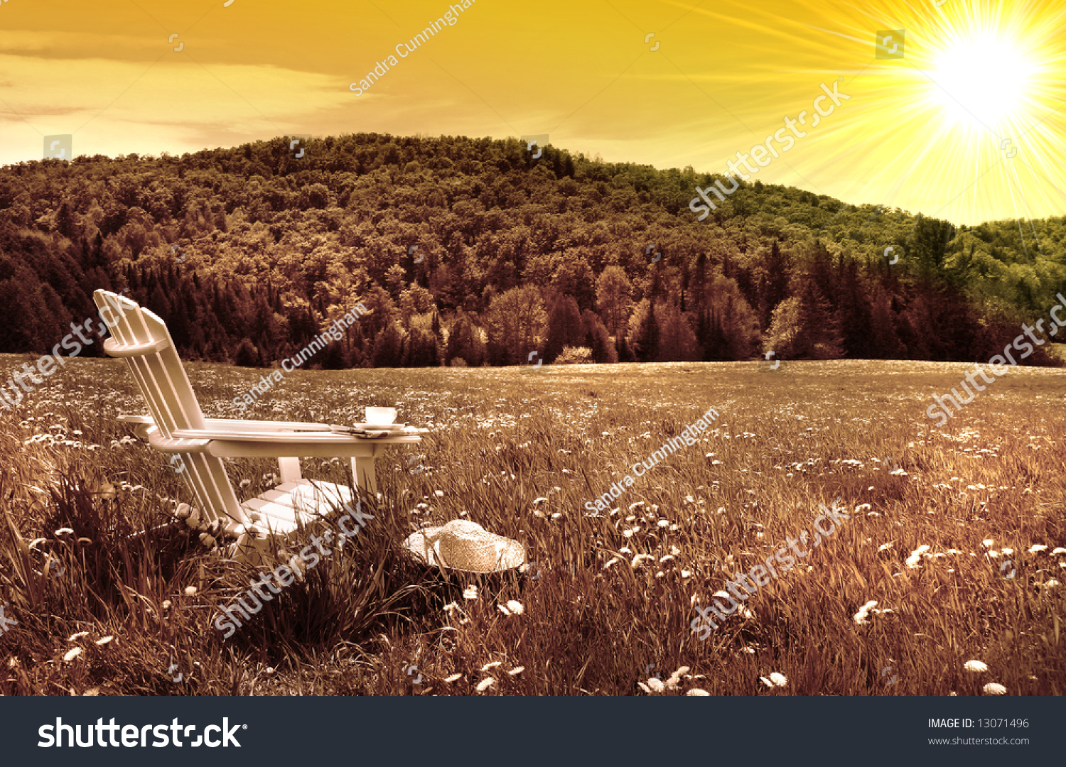 Adirondack chairs on beach sepia - Save To A Lightbox