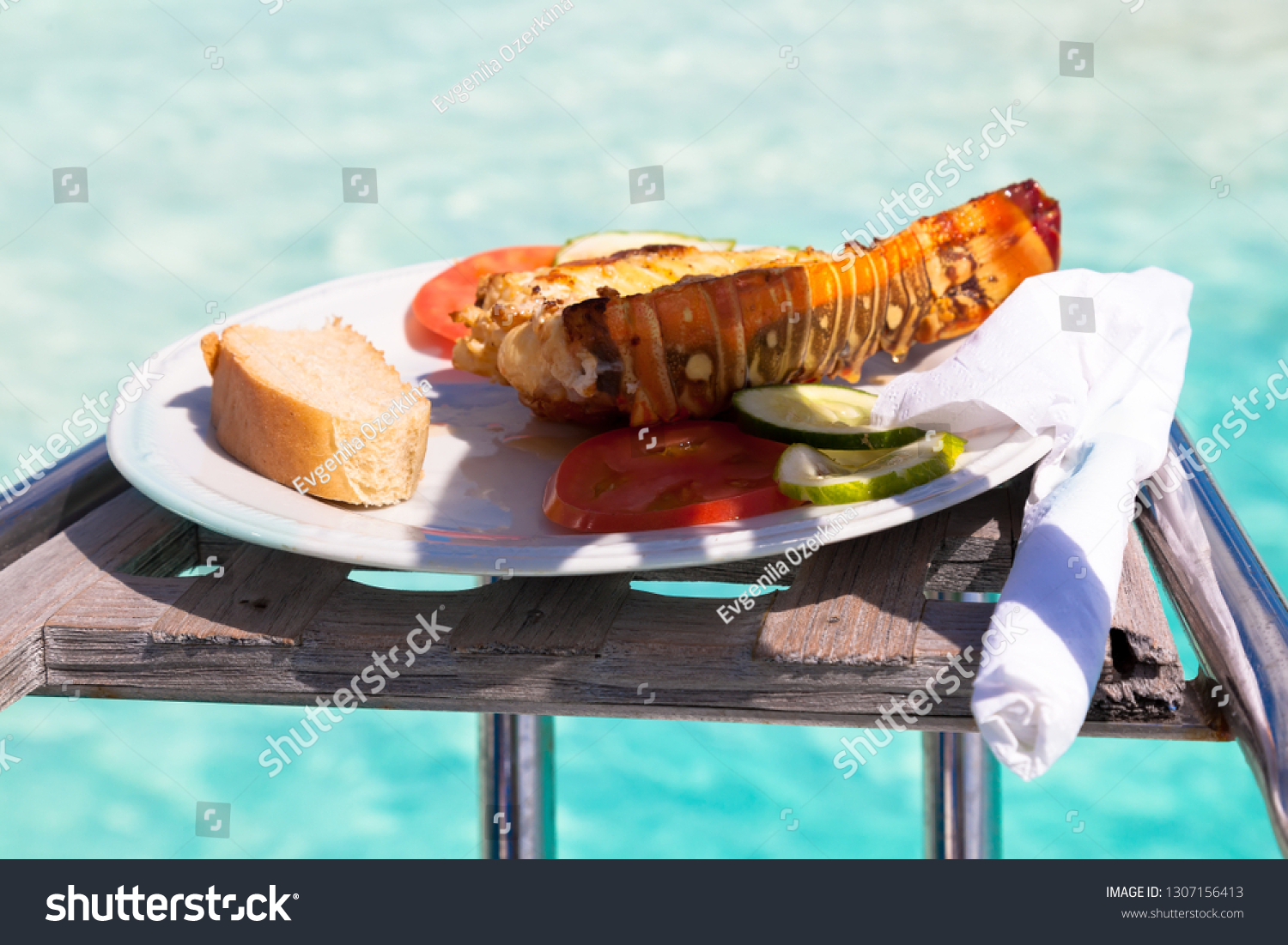 stock-photo-plate-with-lobster-langouste