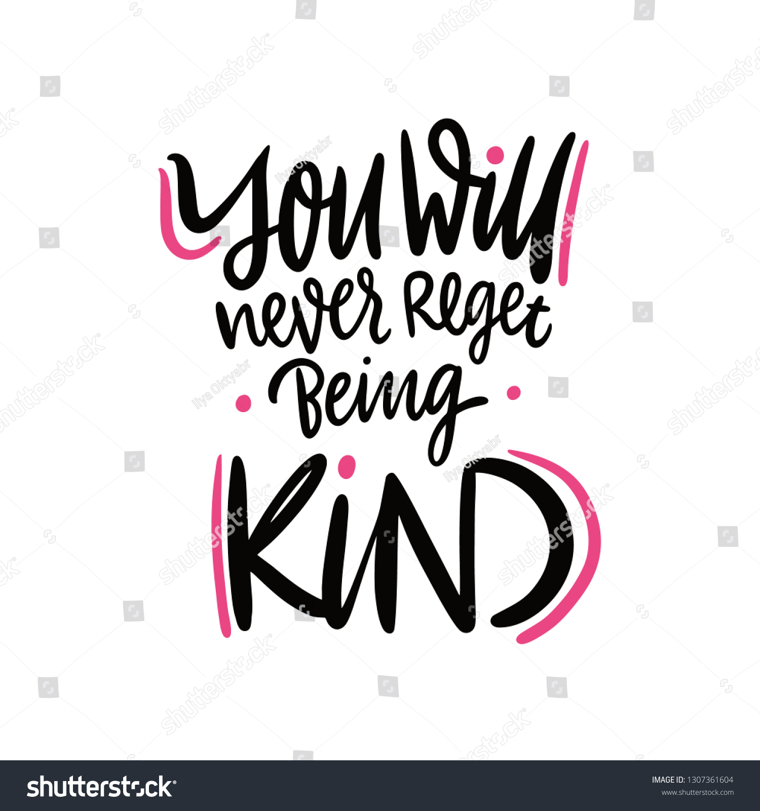 You Will Never Regret Being Kind Stock Vector (Royalty Free