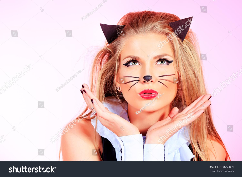 Как сделать кошачий макияж? Примеры. Пошаговая инструкция 27