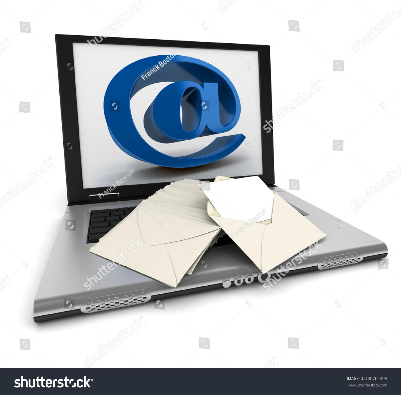 Open Laptop Symbol On Screen Lots Stock Illustration Royalty Free