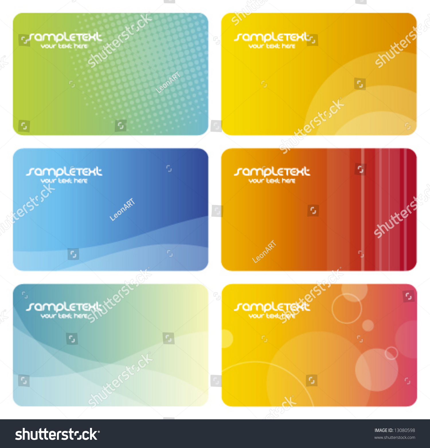 Colorful Business Cards artistic Abstract Background Textures ...