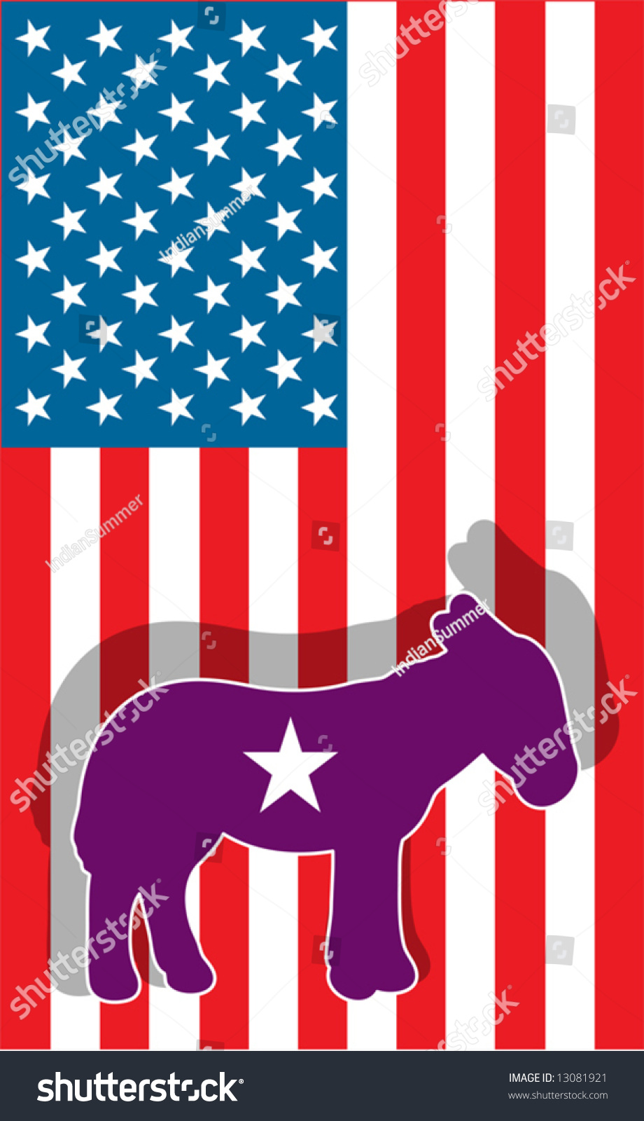 Democratic party symbol donkey against usa stock vector 13081921 democratic party symbol donkey against usa flag biocorpaavc Image collections