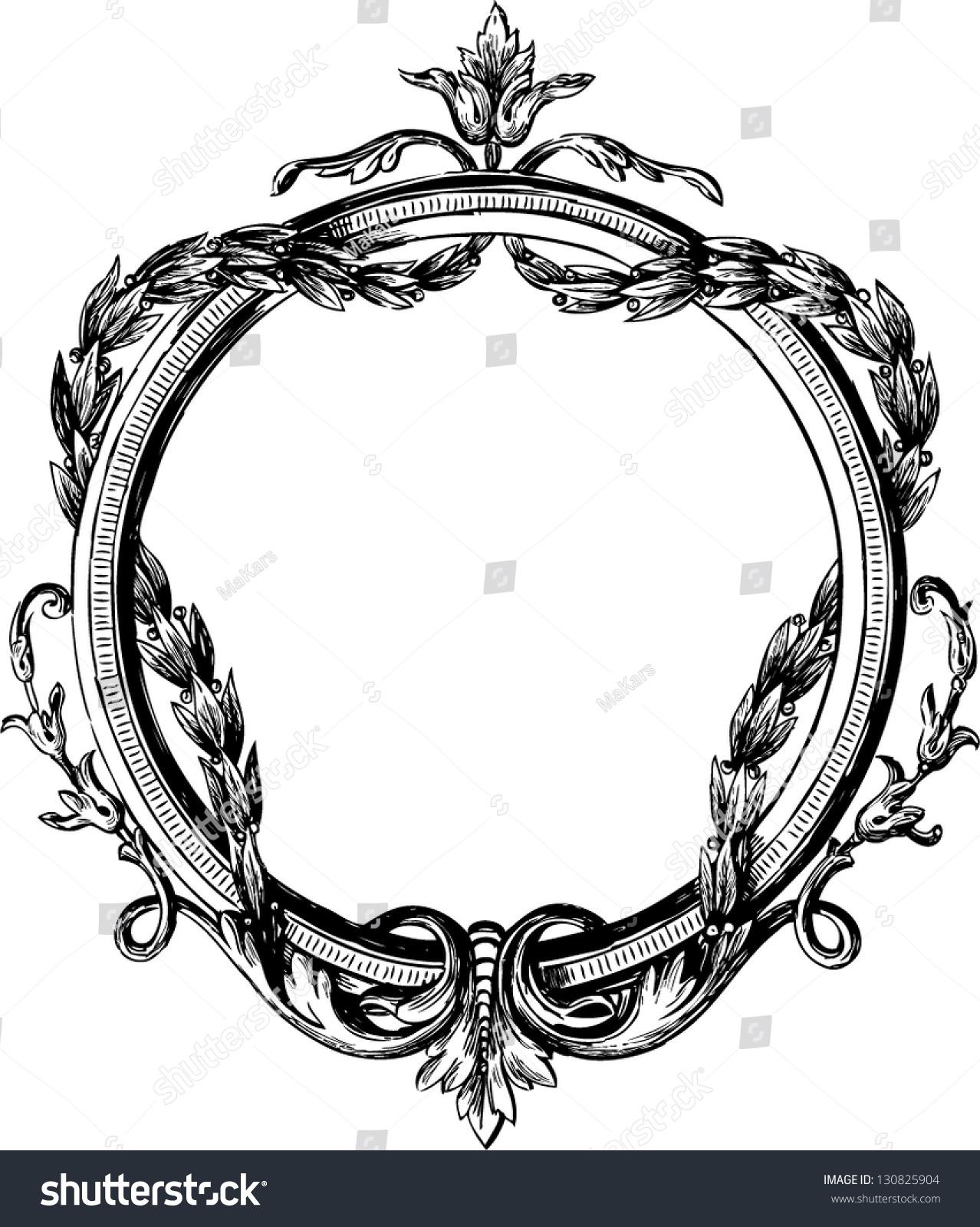 Vintage Round Frame Stock Vector 130825904 Shutterstock