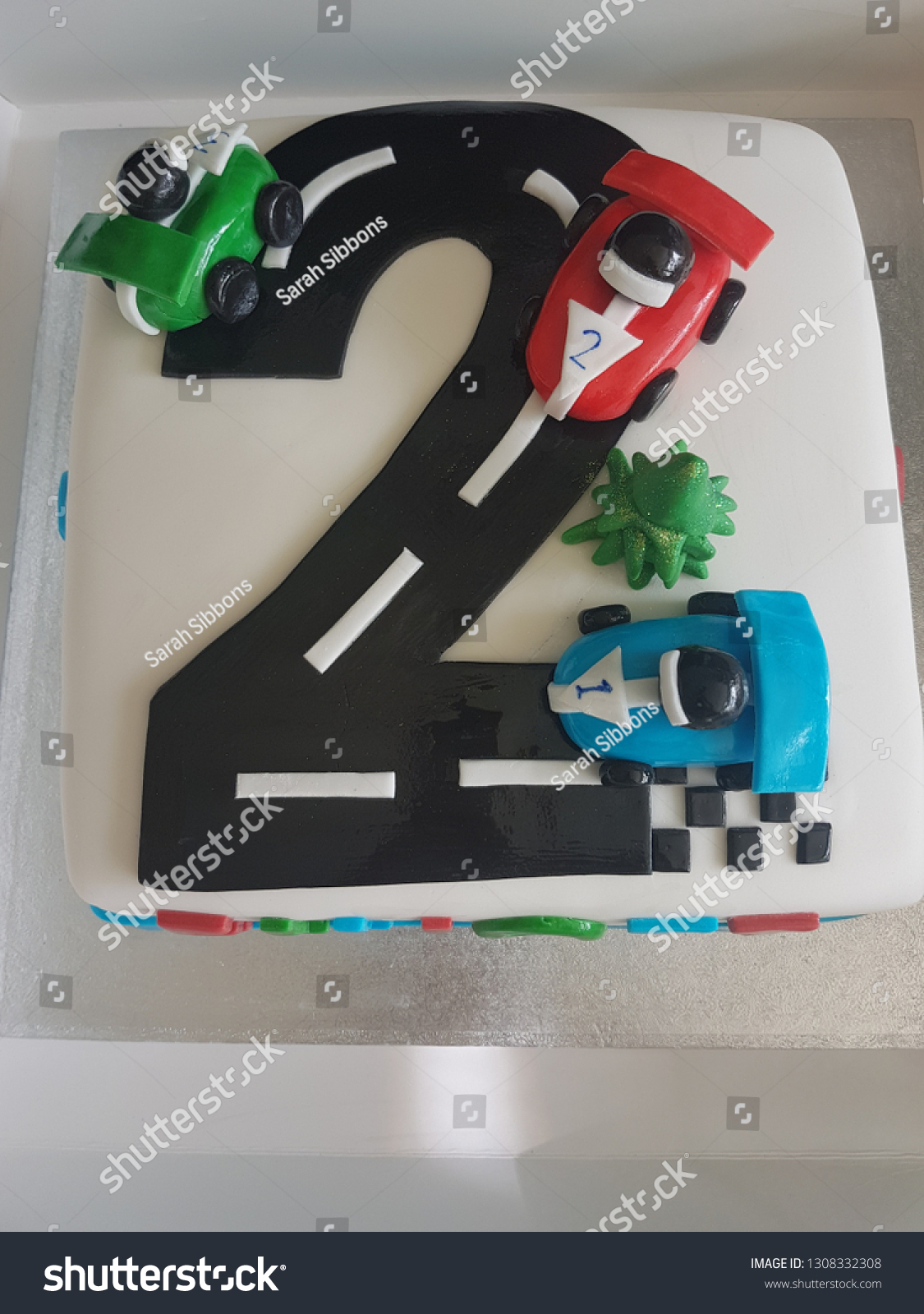 Awe Inspiring Cars Birthday Cake Fondant Moulded Cars Stock Photo Edit Now Funny Birthday Cards Online Eattedamsfinfo