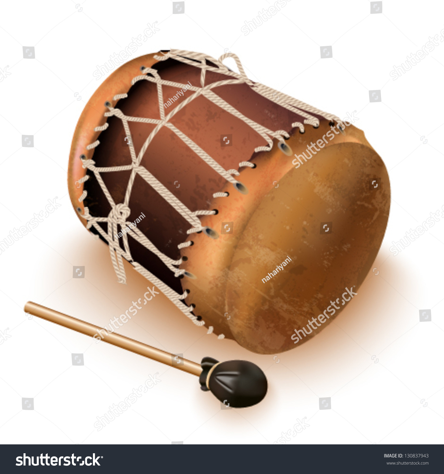 Musical Background Series. Traditional Bungas (Drums ...