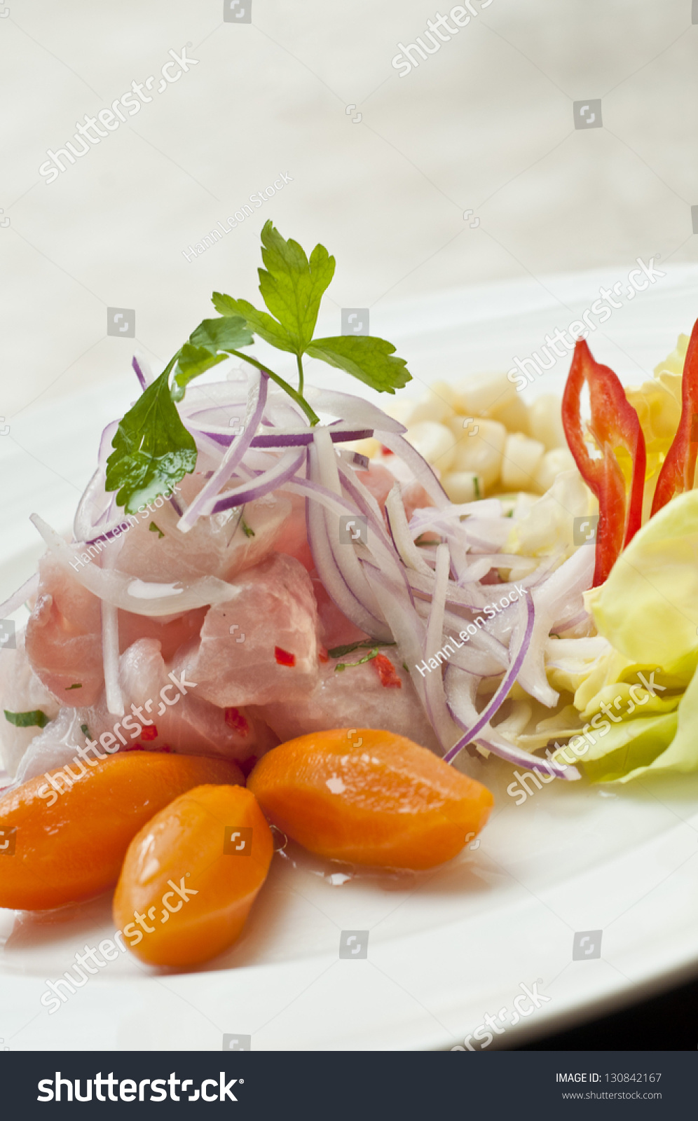Ceviche Peruano Peruvian Ceviche Stock Photo Edit Now 130842167