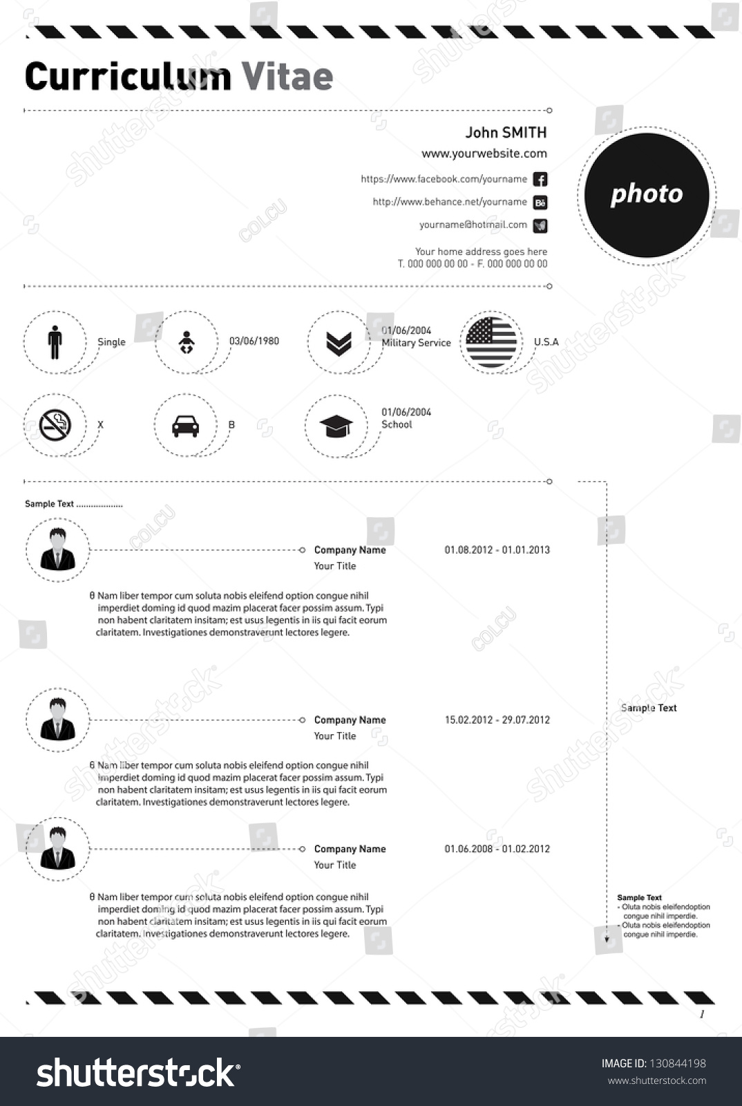 curriculum vitae resume design everyone stock vector 130844198 curriculum vitae or resume design for everyone