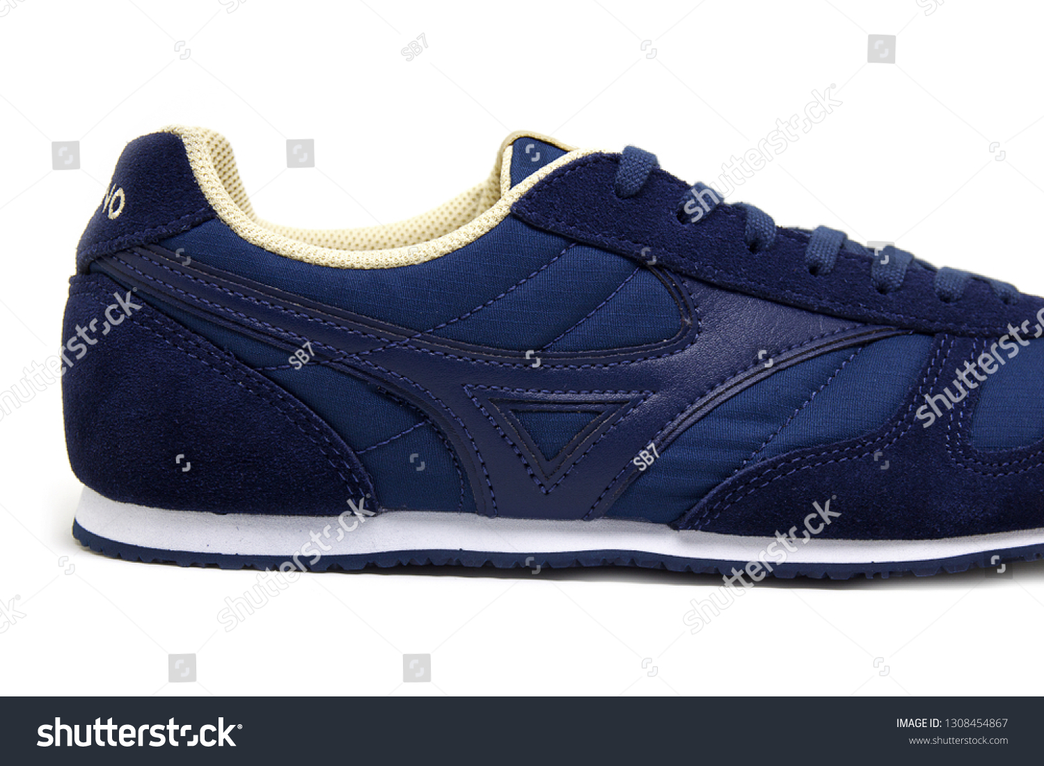 5e8a0323b14e Mizuno sports style casual sneakers RS88 Navy blue or dress blue color  unisex shoes on white