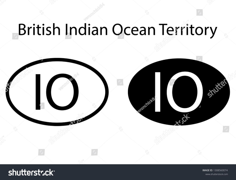 British Indian Ocean Territory Country Code Stock Vector Royalty ...