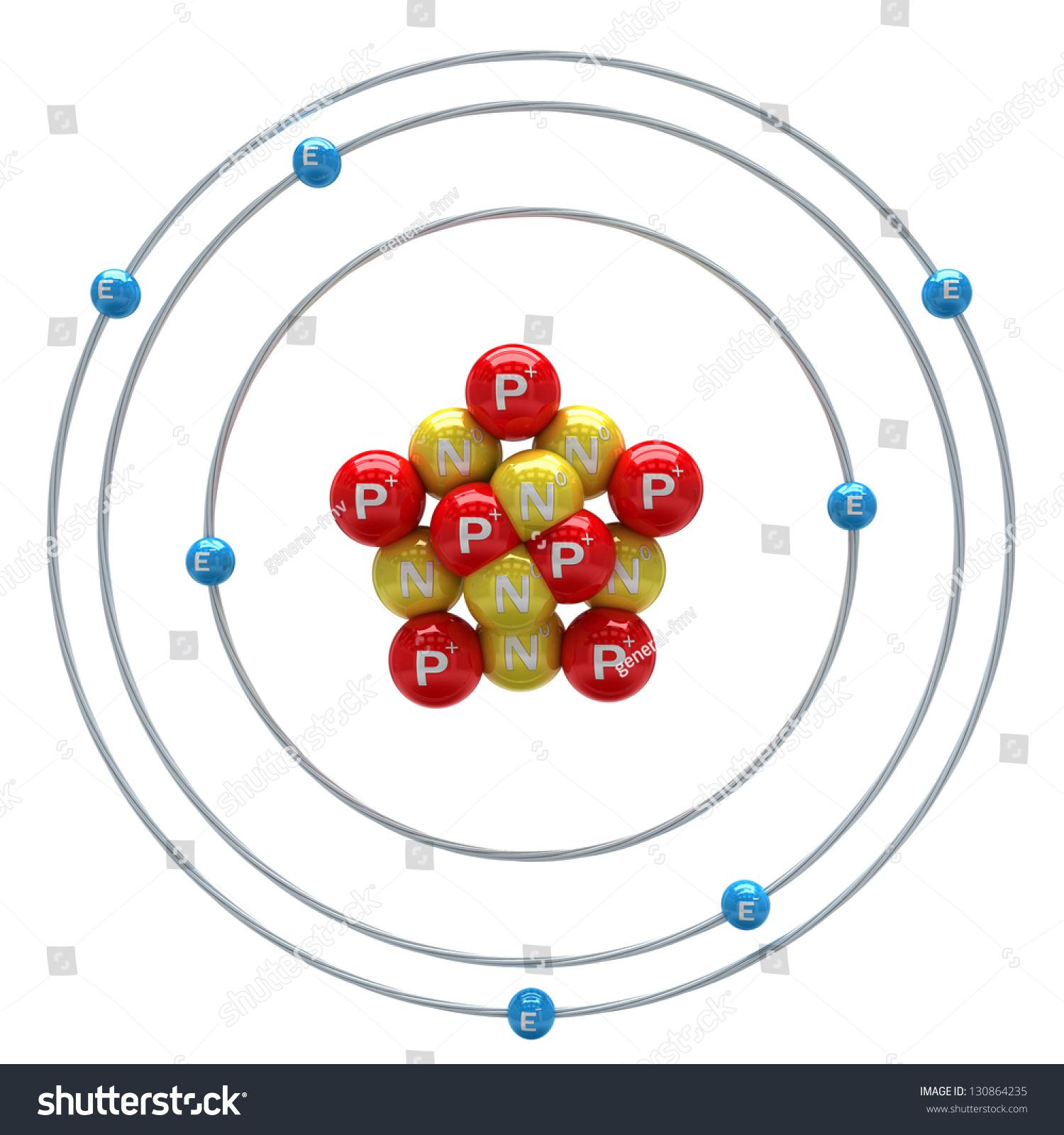 Nitrogen Atom On White Background Stock Illustration